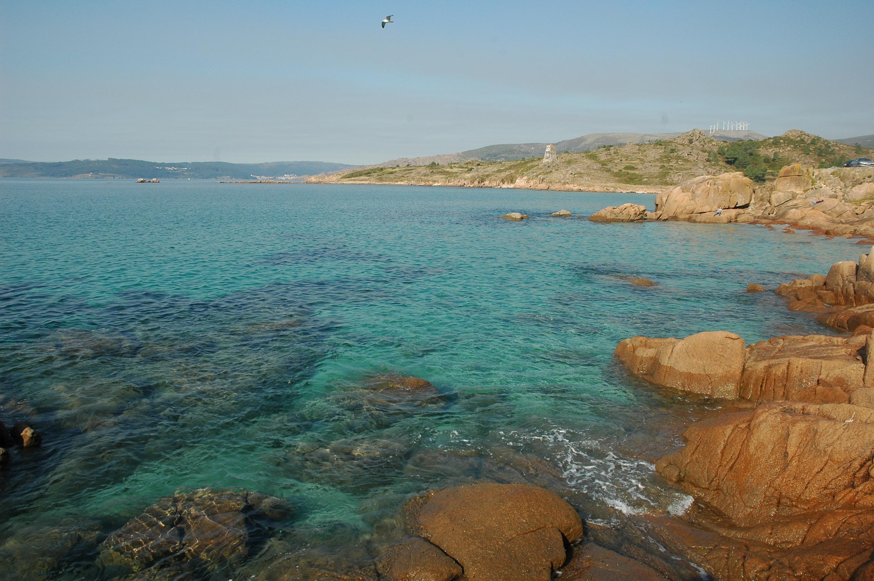 Foto playa San Pedro / Playa de O Pindo. Costa nei pressi di O Pindo