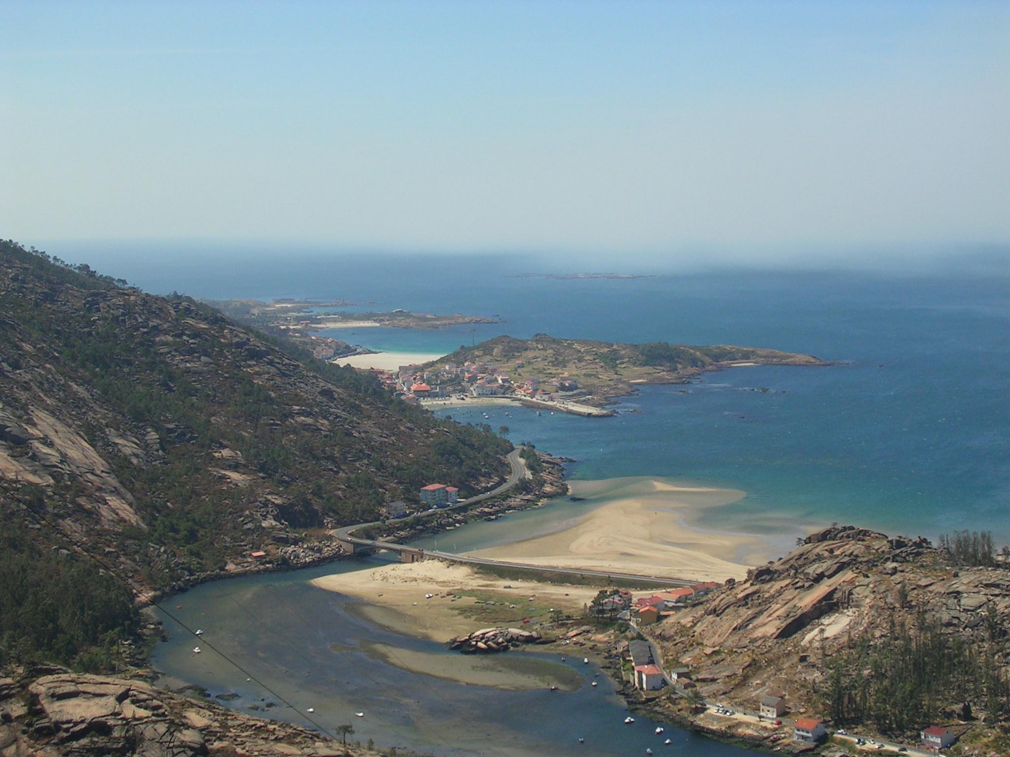 Foto playa Ézaro. Desembocadura do rio Xallas