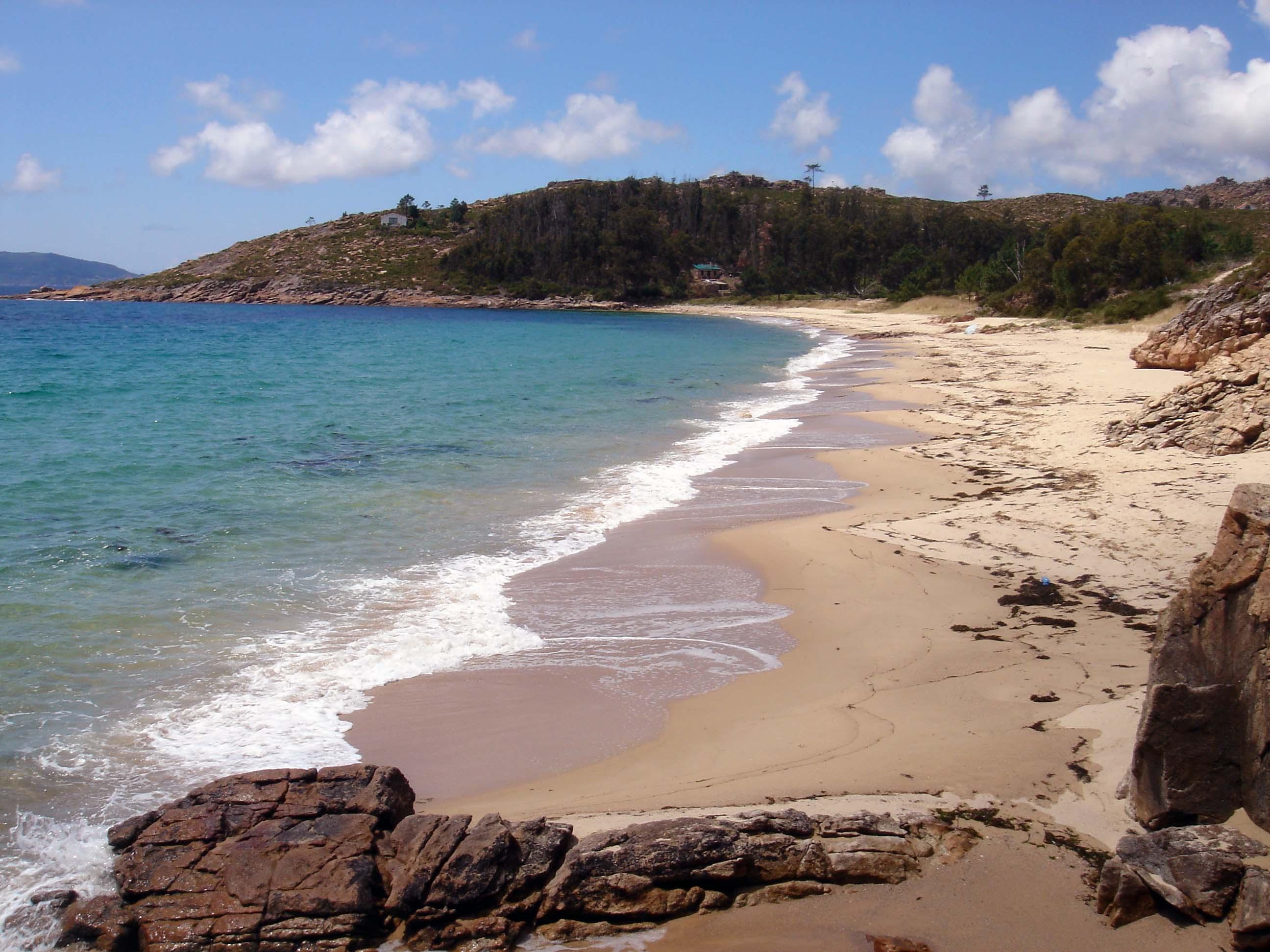 Foto playa Gures. Praia de Gures