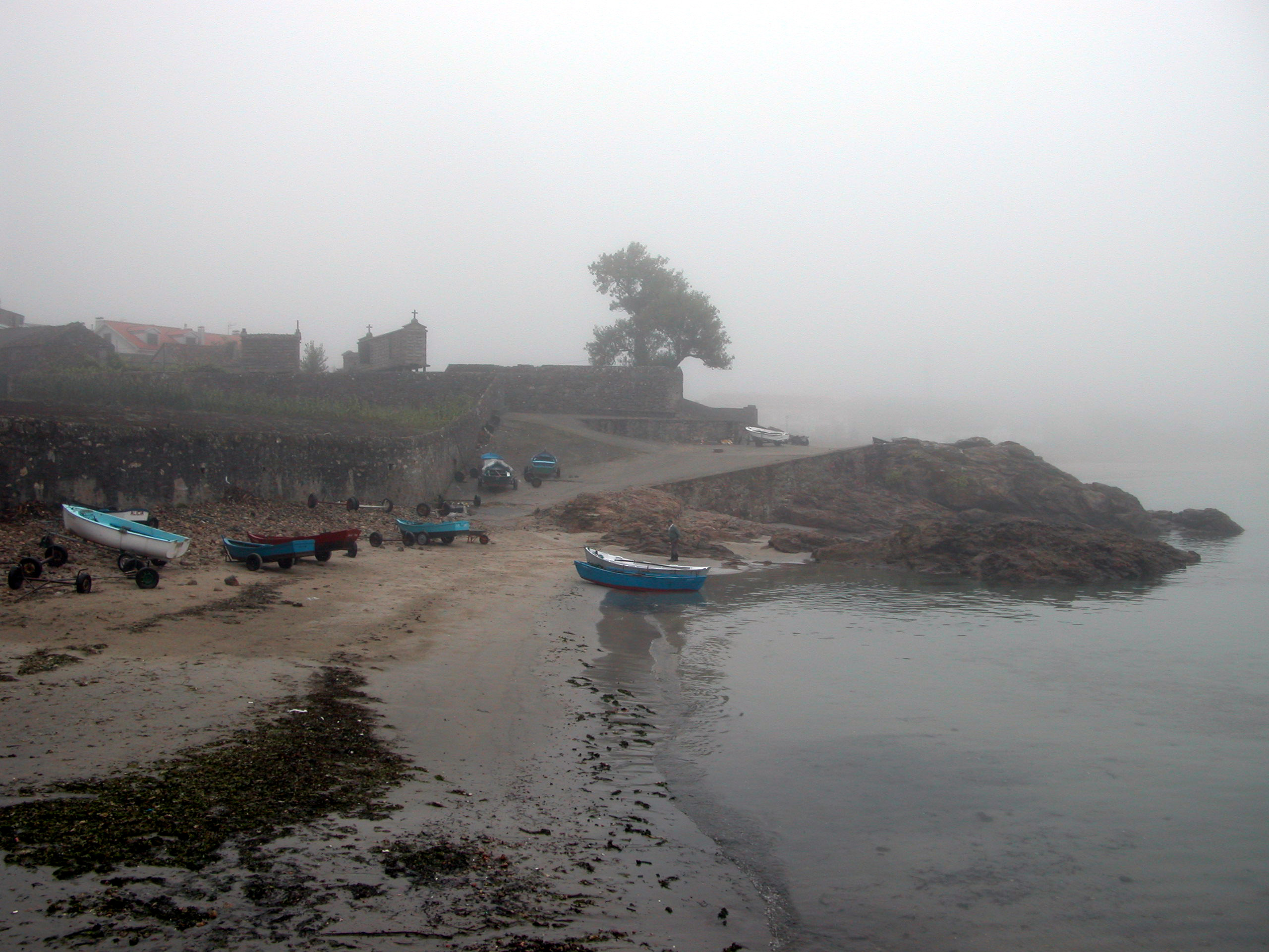 Foto playa Restrelo. CAMINO DE SANTIAGO (2005). SARDIÑEIRO DE BAIXO (La Coruña). Promontorio O Rumbo.