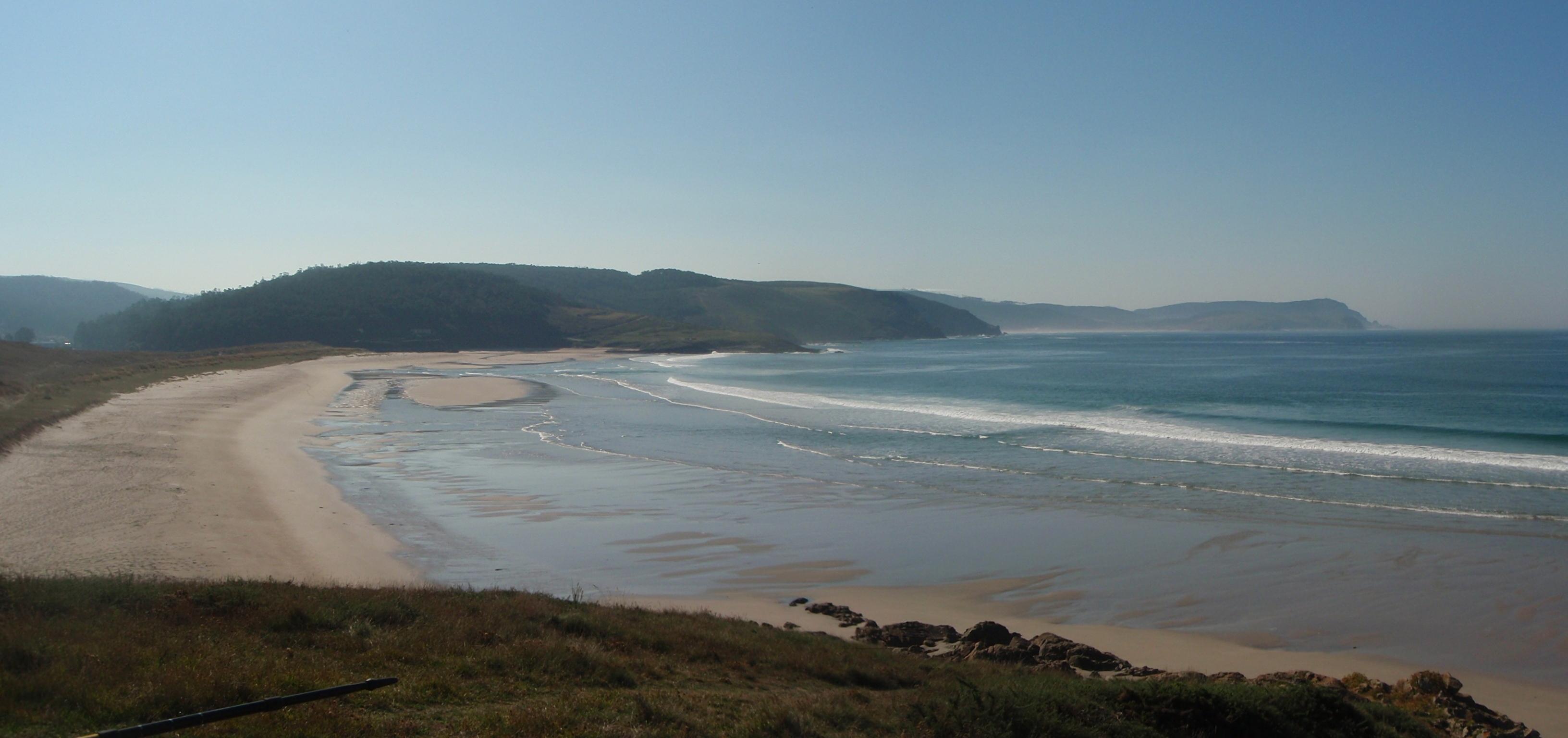 Foto playa Nemiña. Praia de Nemiña