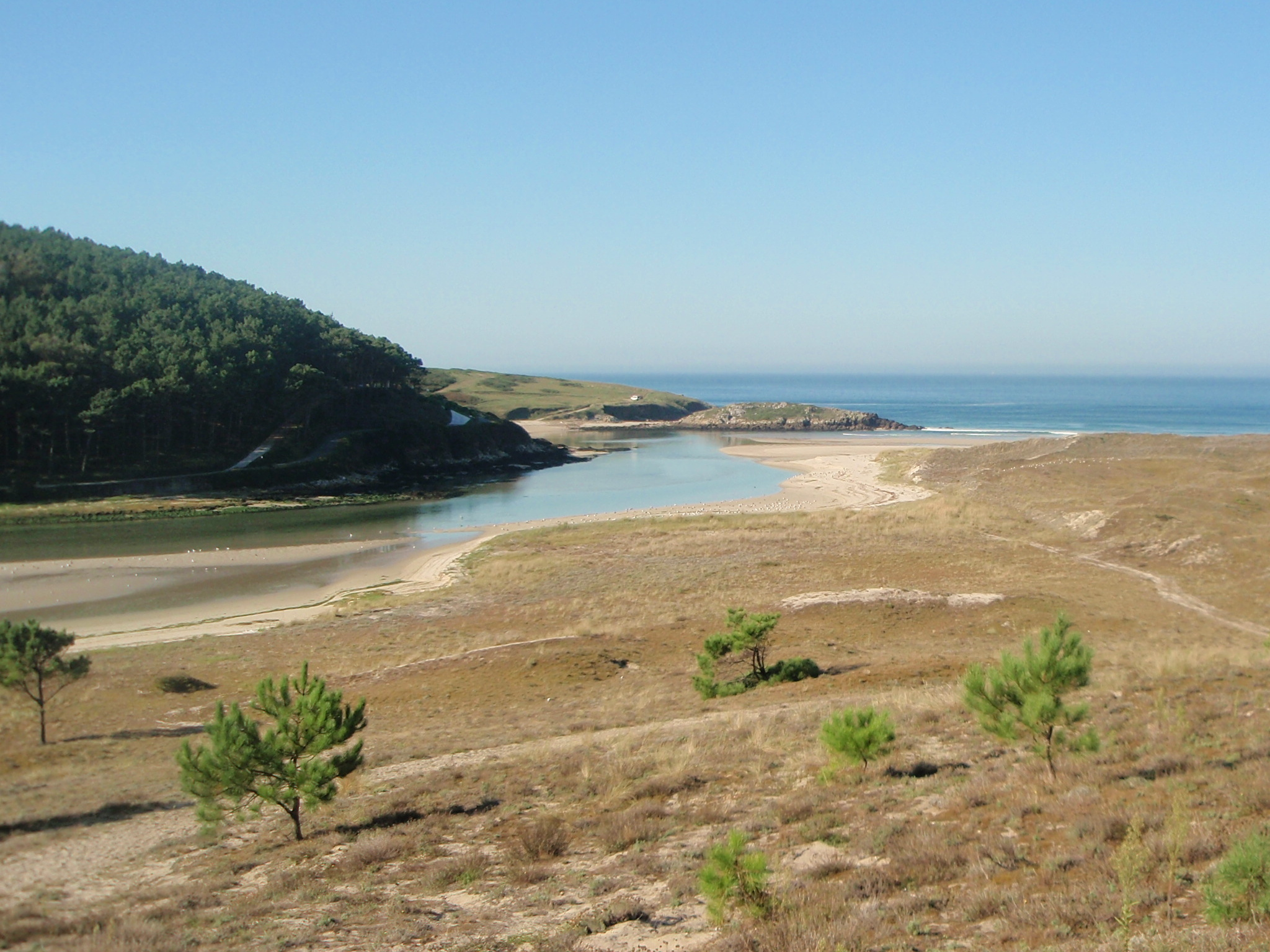 Foto playa Nemiña. Desembocadura do  Río Castro
