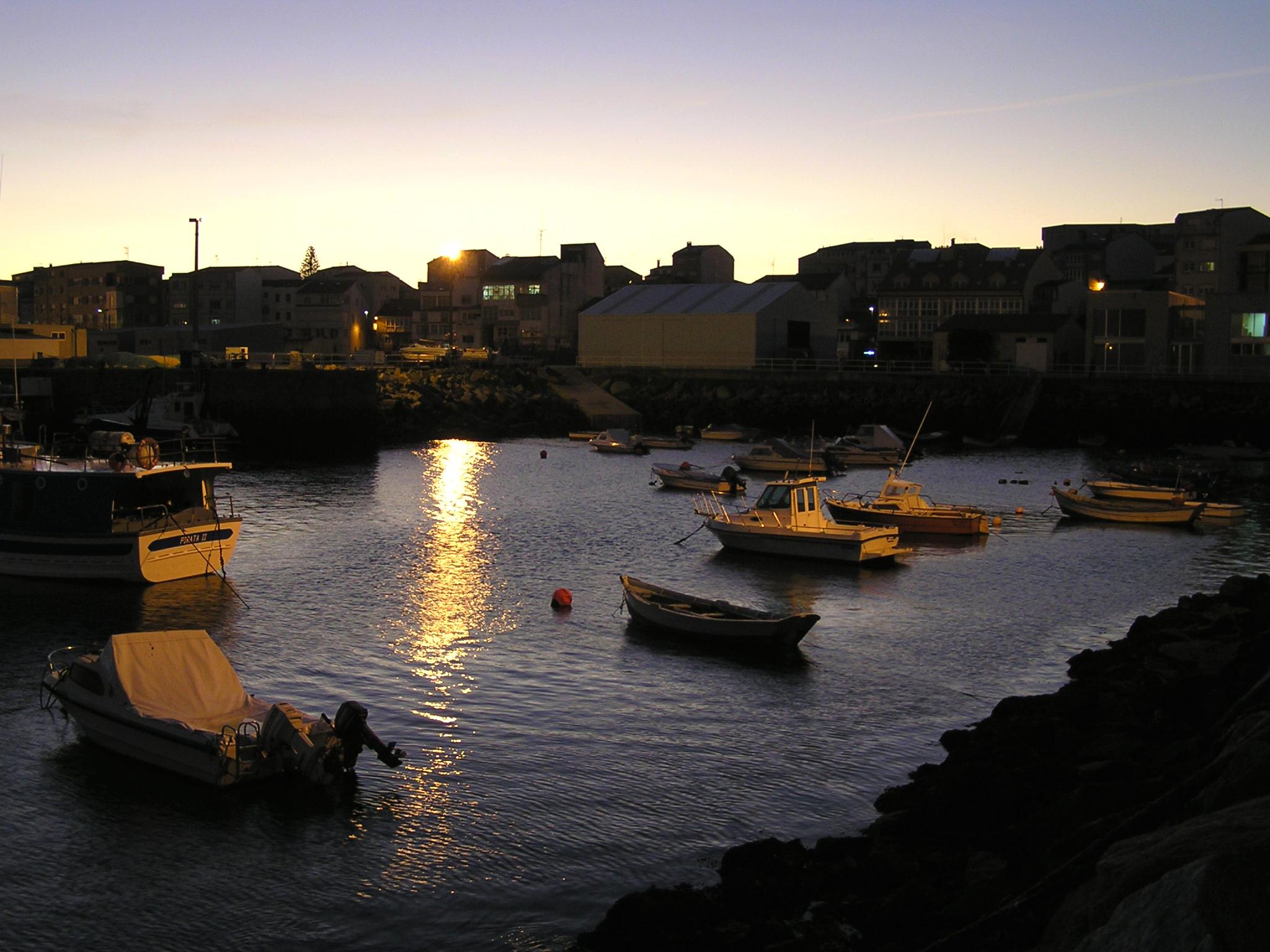 Foto playa O Coido. Muxia puerto