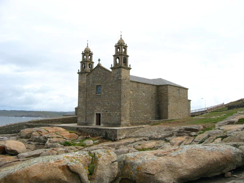 Foto playa O Coido.  Muxia, Santuario de Ntra. Sra. de la Barca.