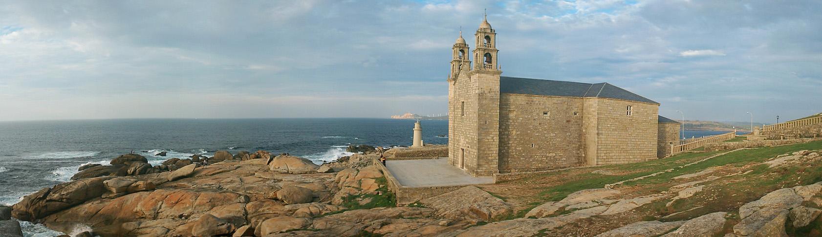 Foto playa O Coido. Santuario de Nosa Señora da Barca (Virgen de la Barca)