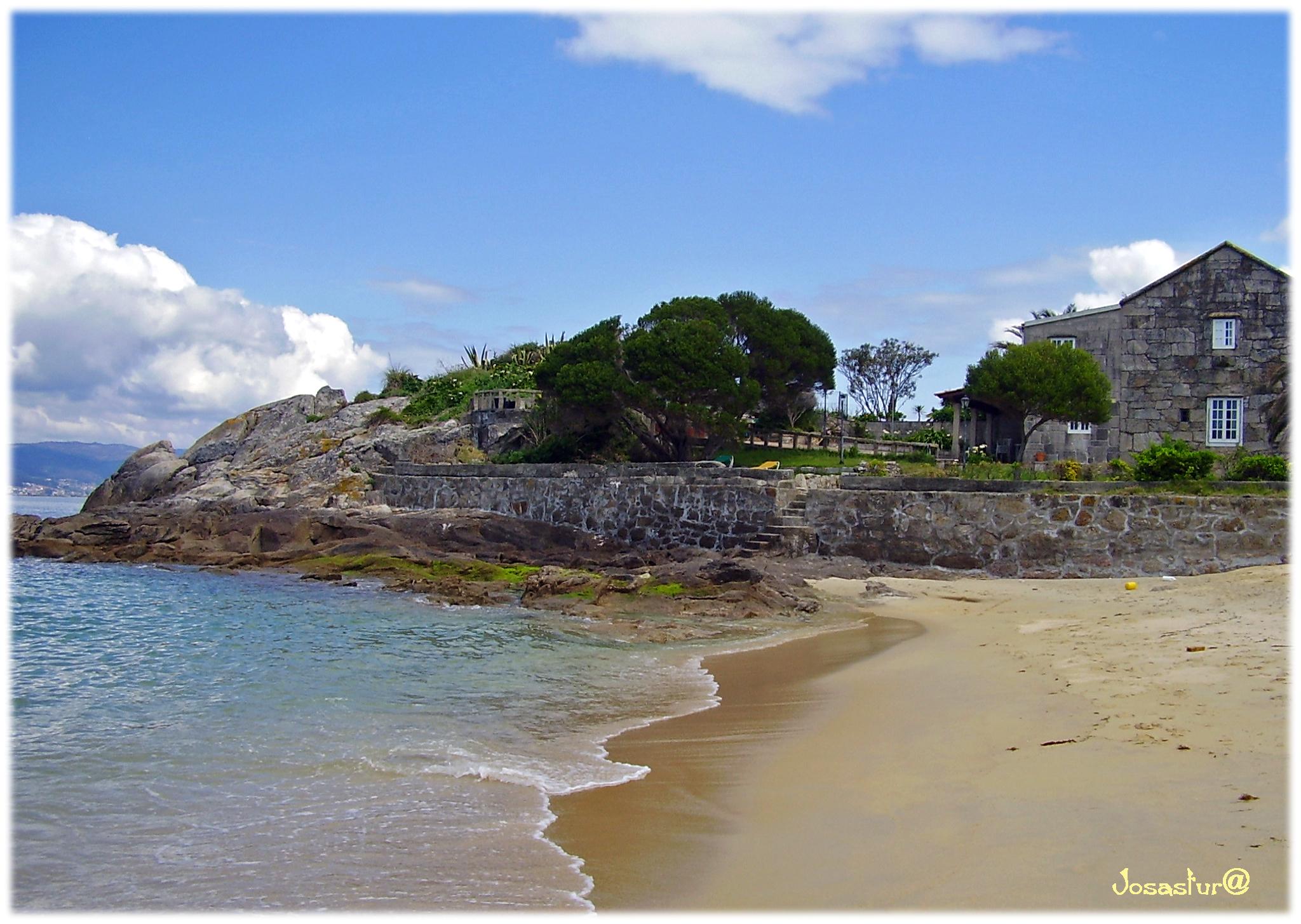 Foto playa Loureiro. Playa de Bueu  ( Pontevedra )