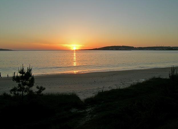 Foto playa Barreira. Anochecer en Camariñas
