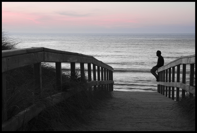 Foto playa Soesto. Solpor en Soesto