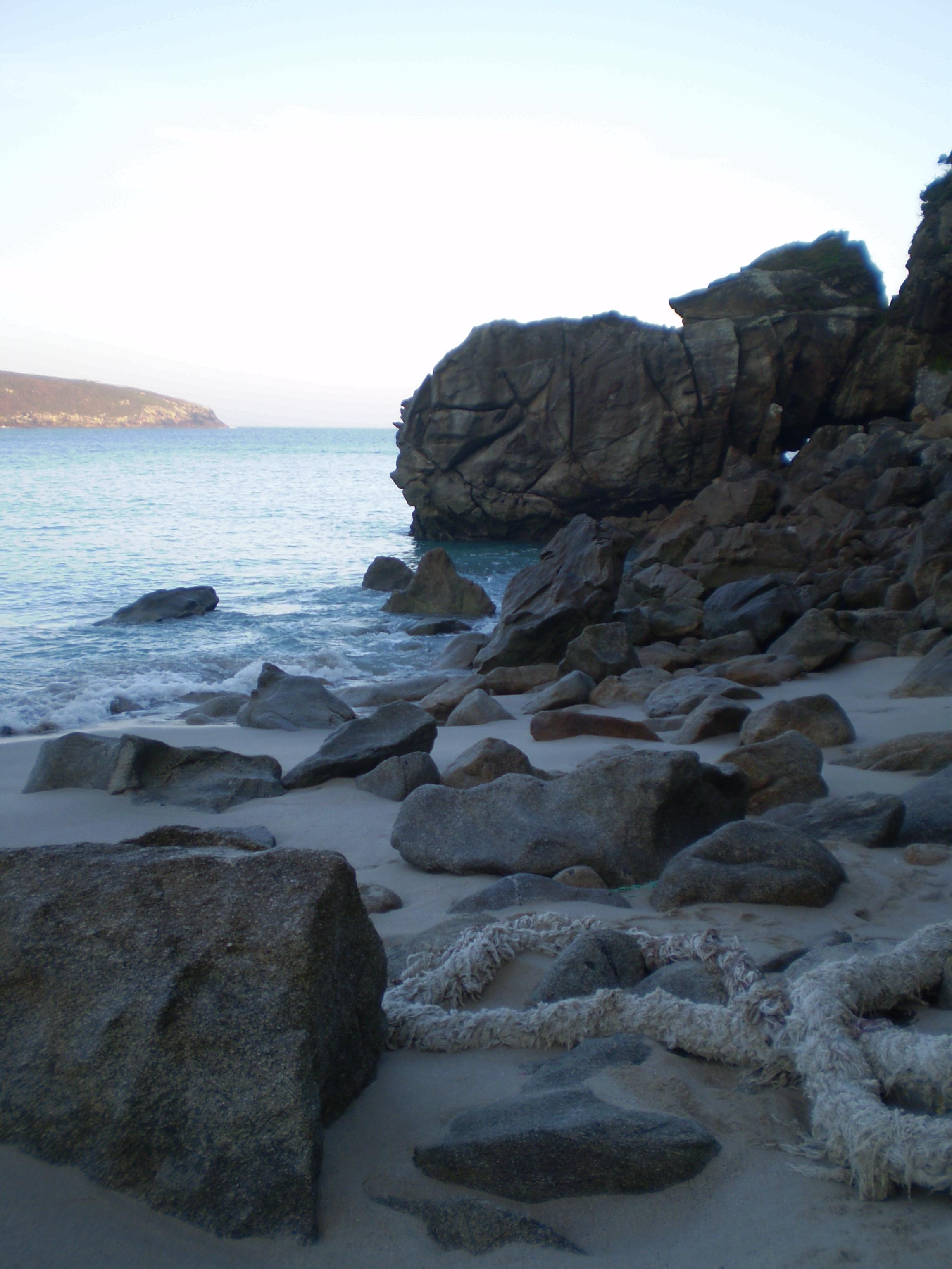 Foto playa Rebordelo. Rocas y mar en calma (Rebordelo)
