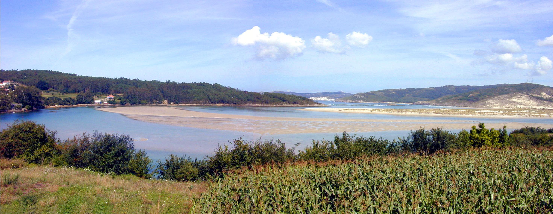 Foto playa Navaliños / O Pendón. Desembocadura del rio Anllons