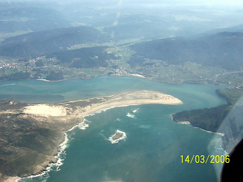 Foto playa Barra do Medio. Vista Aérea Ponteceso_2