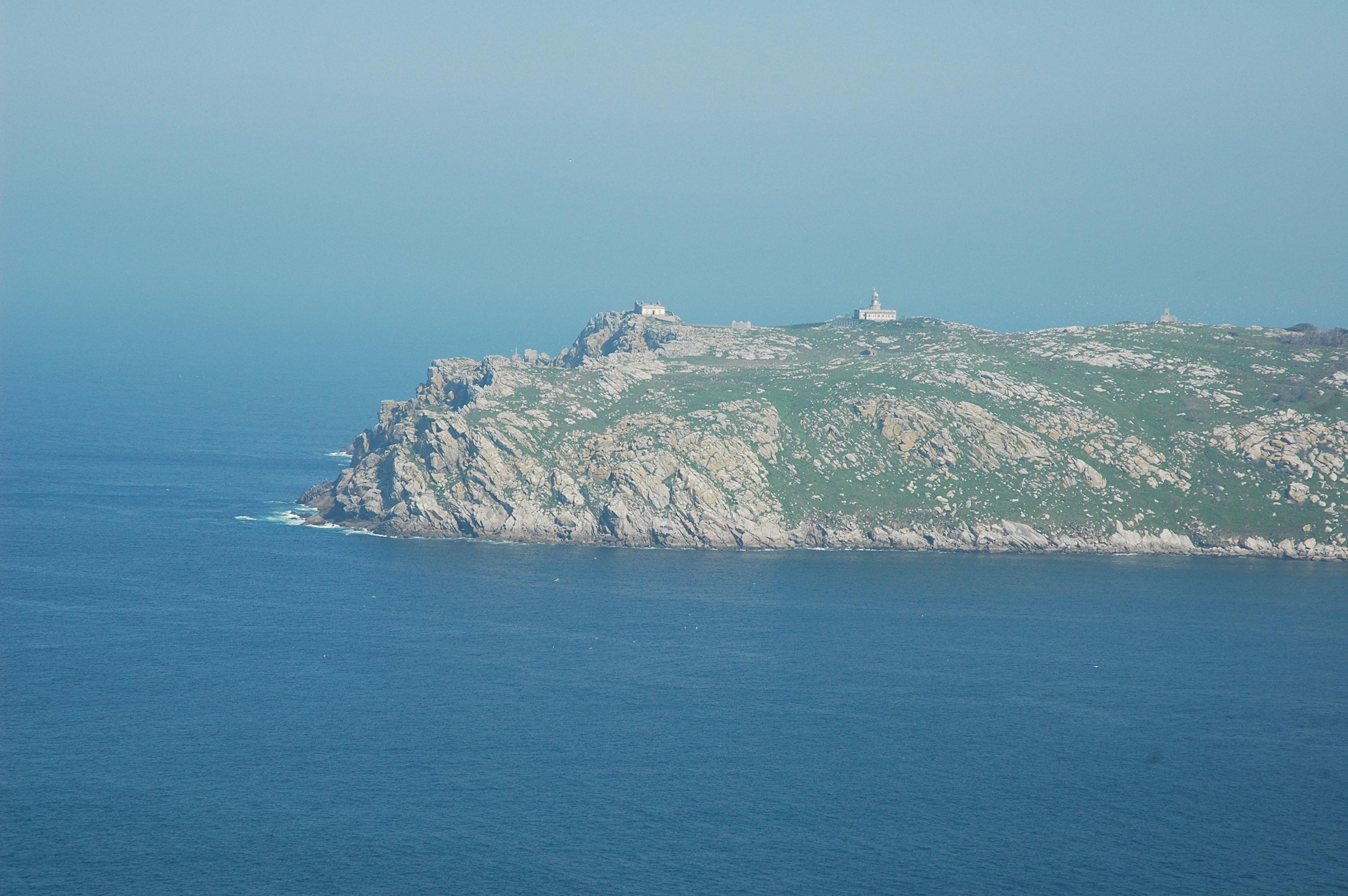 Foto playa Seaia. Faro de Islas Sisargas
