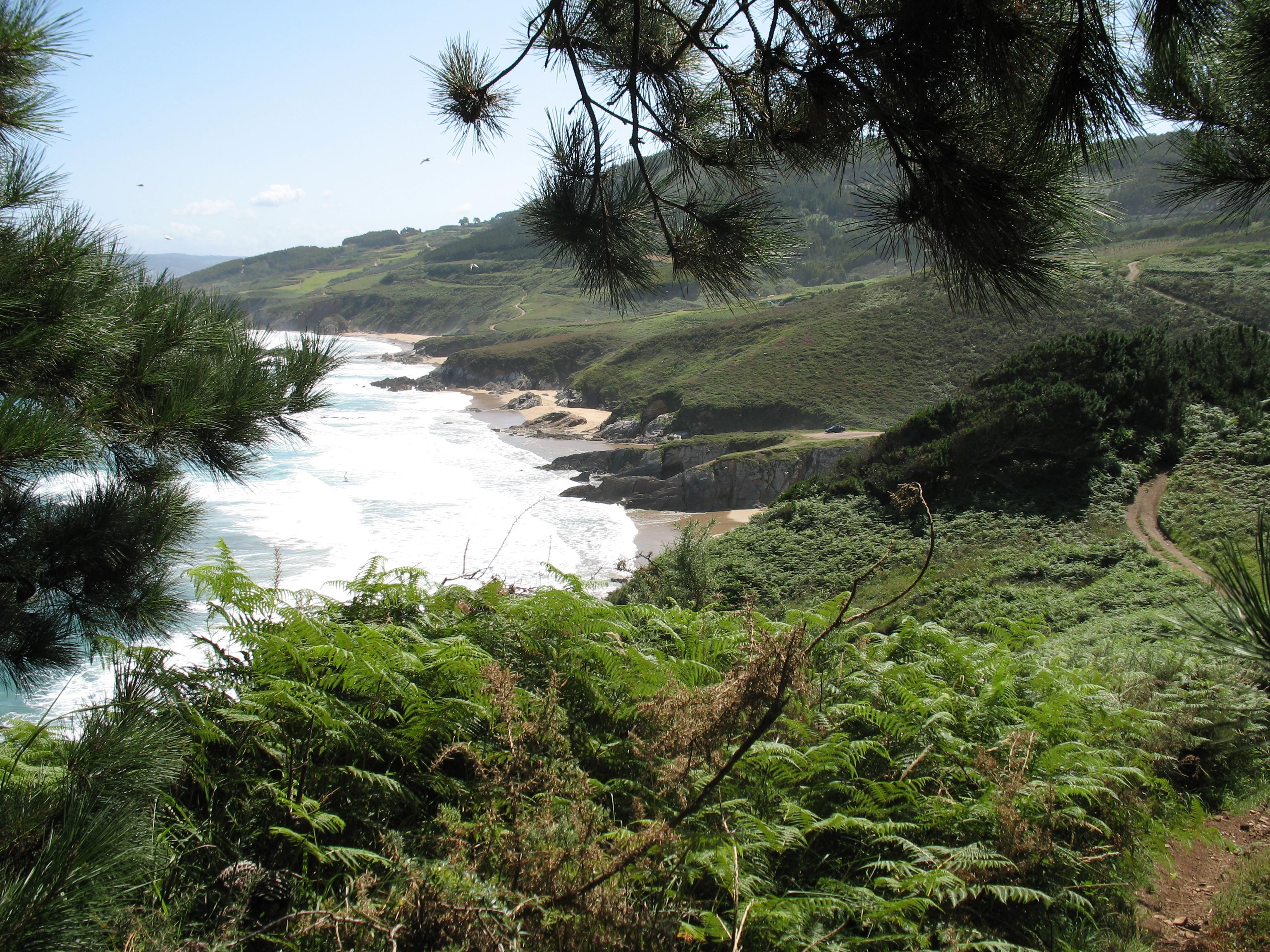 Foto playa San Miro. ruta btt-razo a malpica
