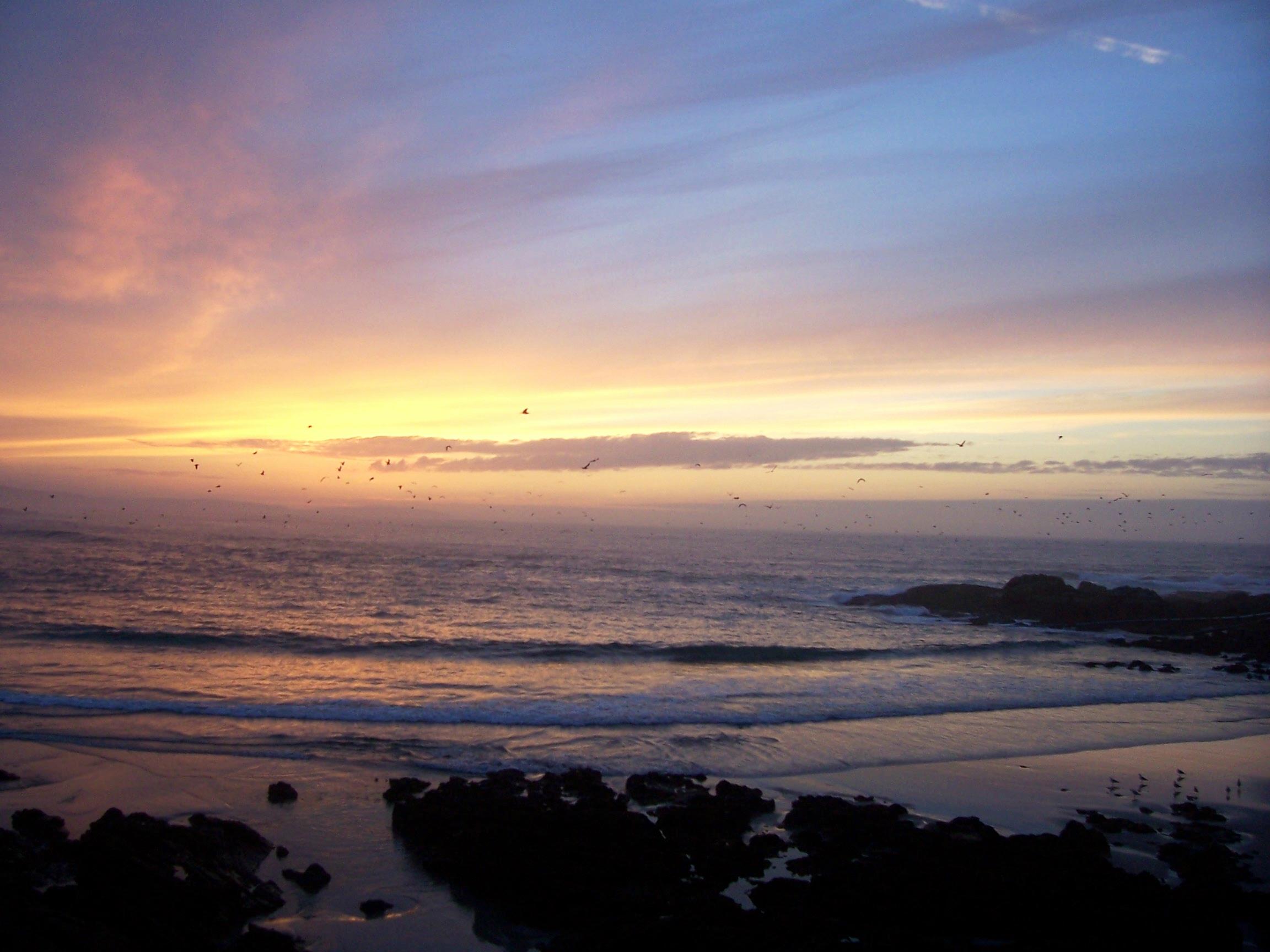 Foto playa Caión / As Salseiras, Caracoleiro / O Cárcere Vello, A Arnela. Atardecer en Caión (by pYpuS)