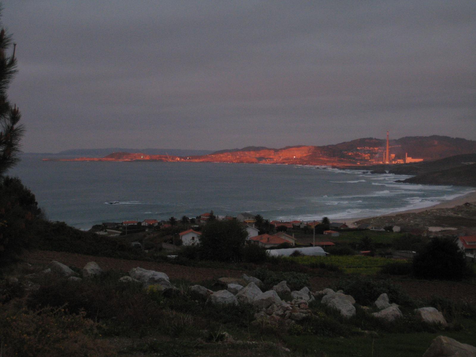 Foto playa Valcobo / Valcovo / Area Grande. Atardecer en el Puerto Exterior