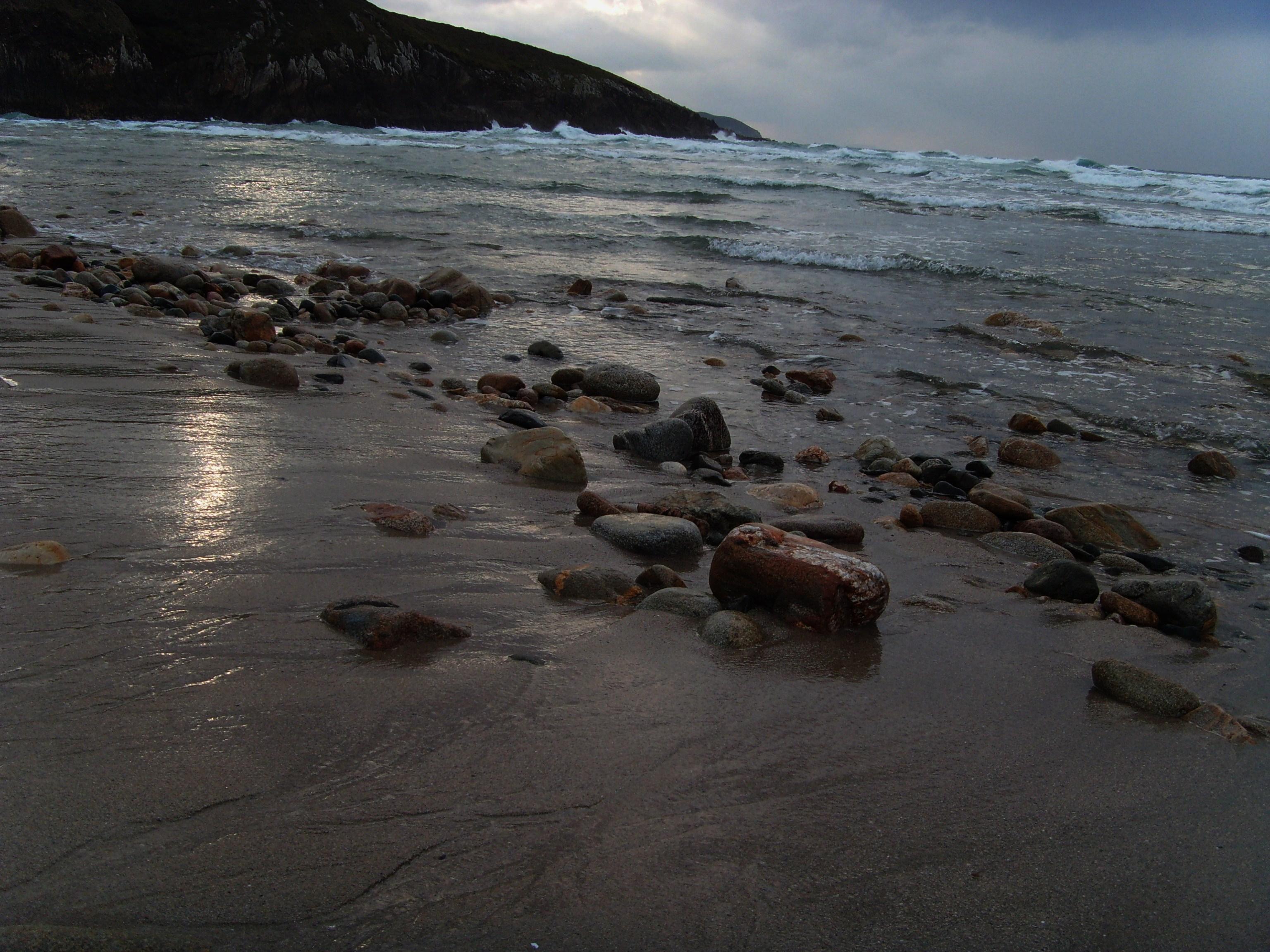 Foto playa La Hucha / Area Pequena / A Hucha. DESCALZA POR LA ORILLA .....................