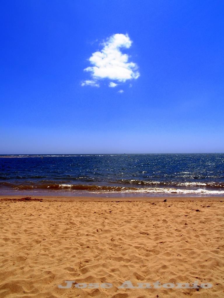 Foto playa La Bota. Solitaria