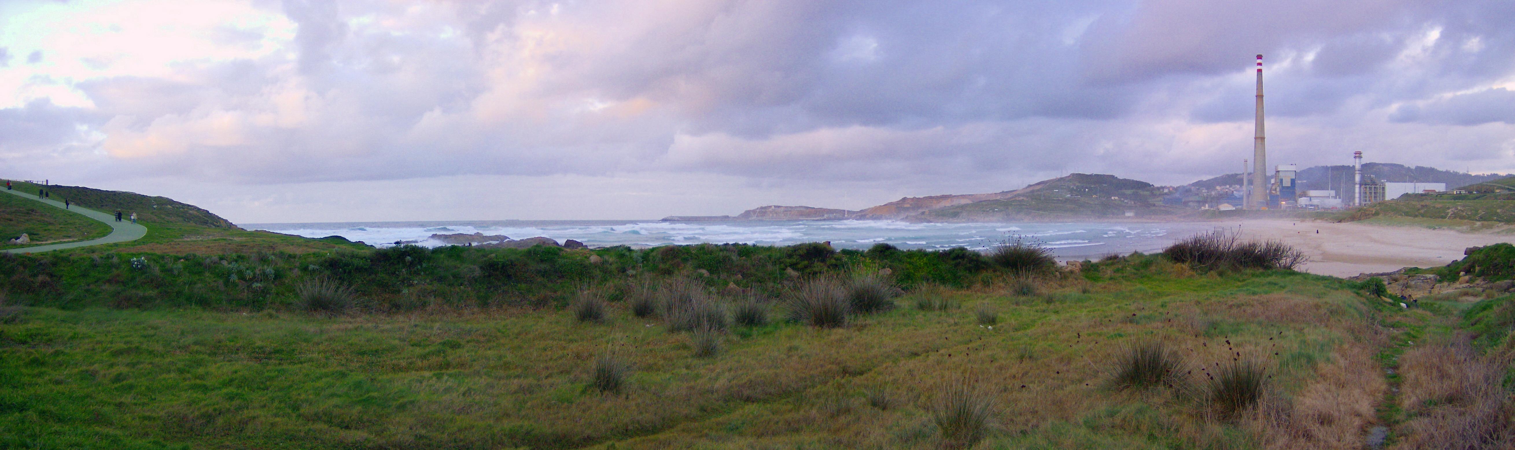 Foto playa Sabón / Alba. Panorámica de la Playa de Sabón-Alba-Rañal