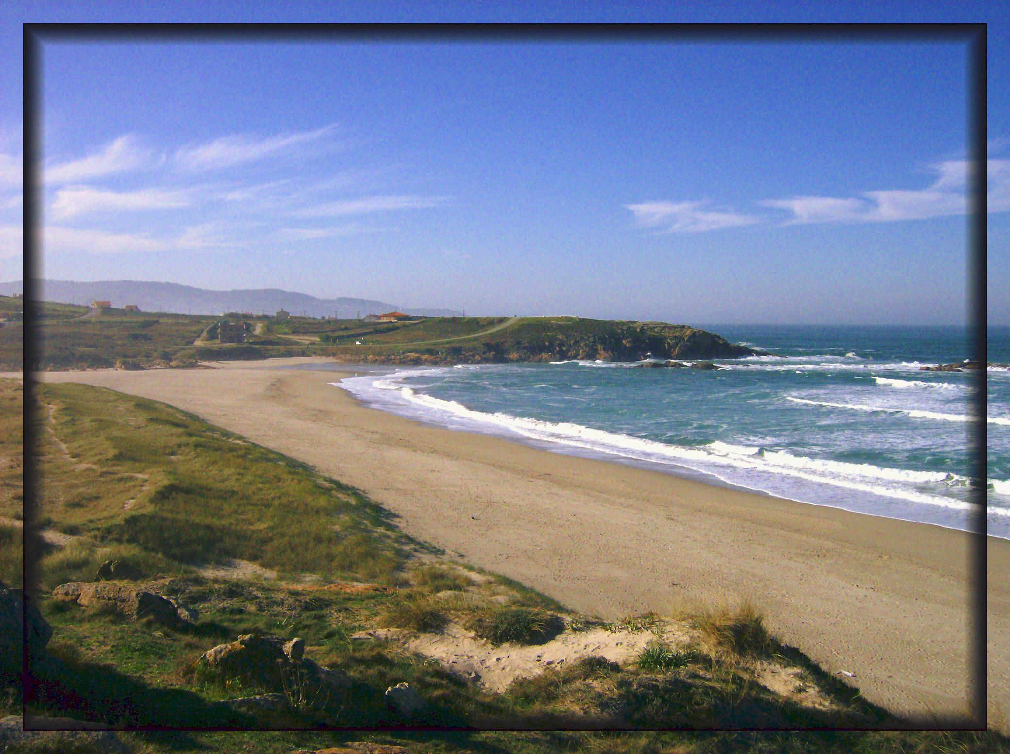 Foto playa Sabón / Alba. El final de la playa-The end of the beach