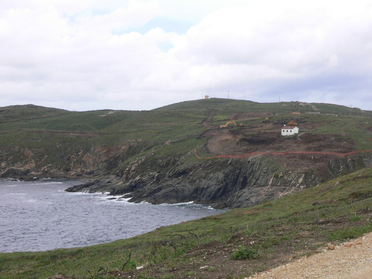 Foto playa Suevos / Area Grande. Puerto Exterior de A Coruña (mayo 2005)