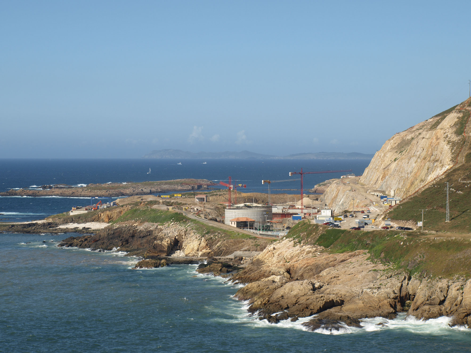 Foto playa Bens. Nueva EDAR Coruña