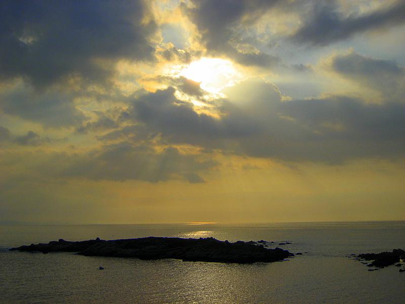Foto playa La Cetárea. esto miraba...