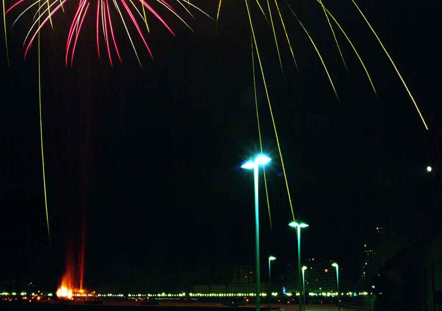 Foto playa Riazor. Rotonda de Riazor