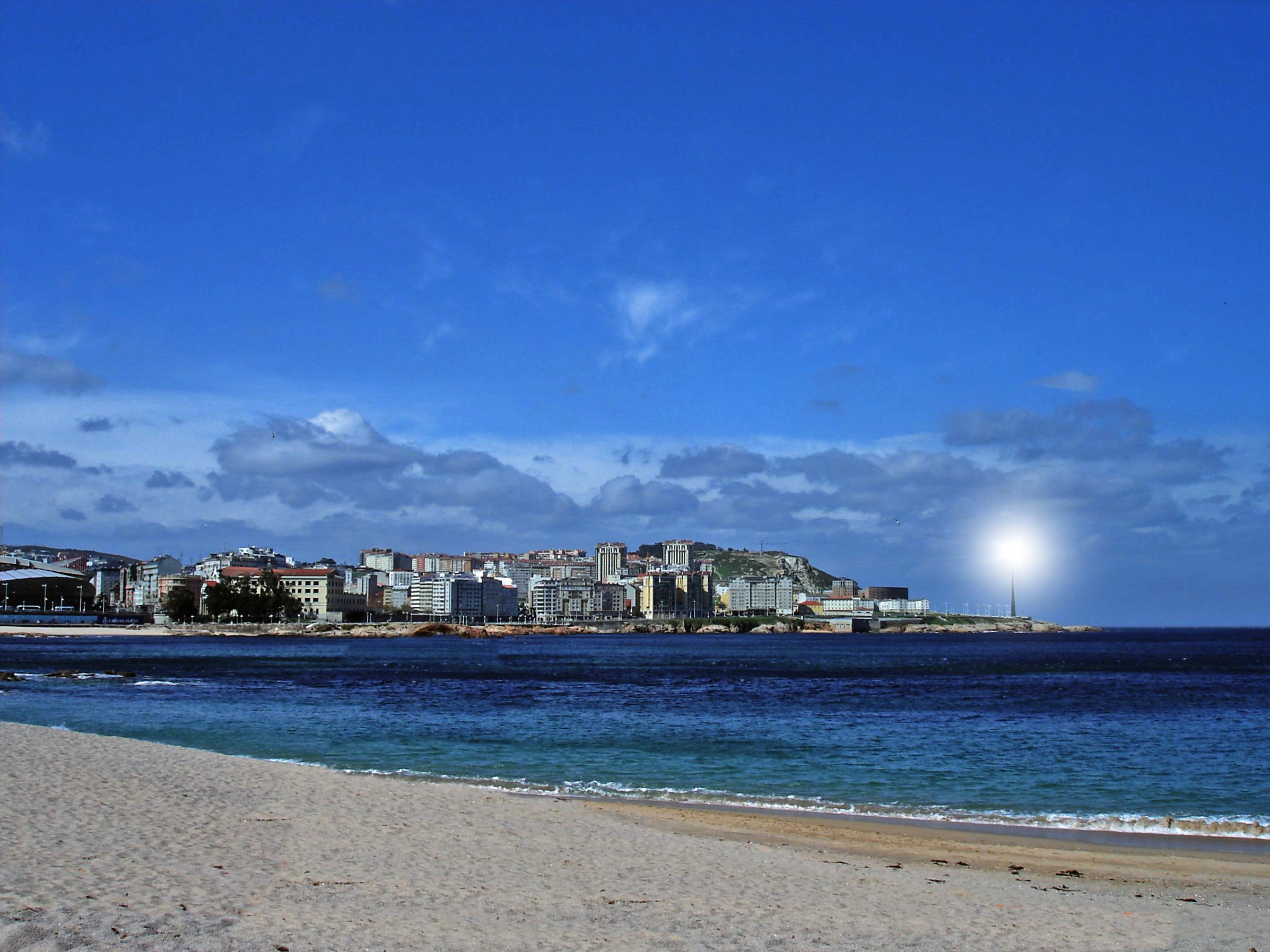 Foto playa Riazor. A Coruña