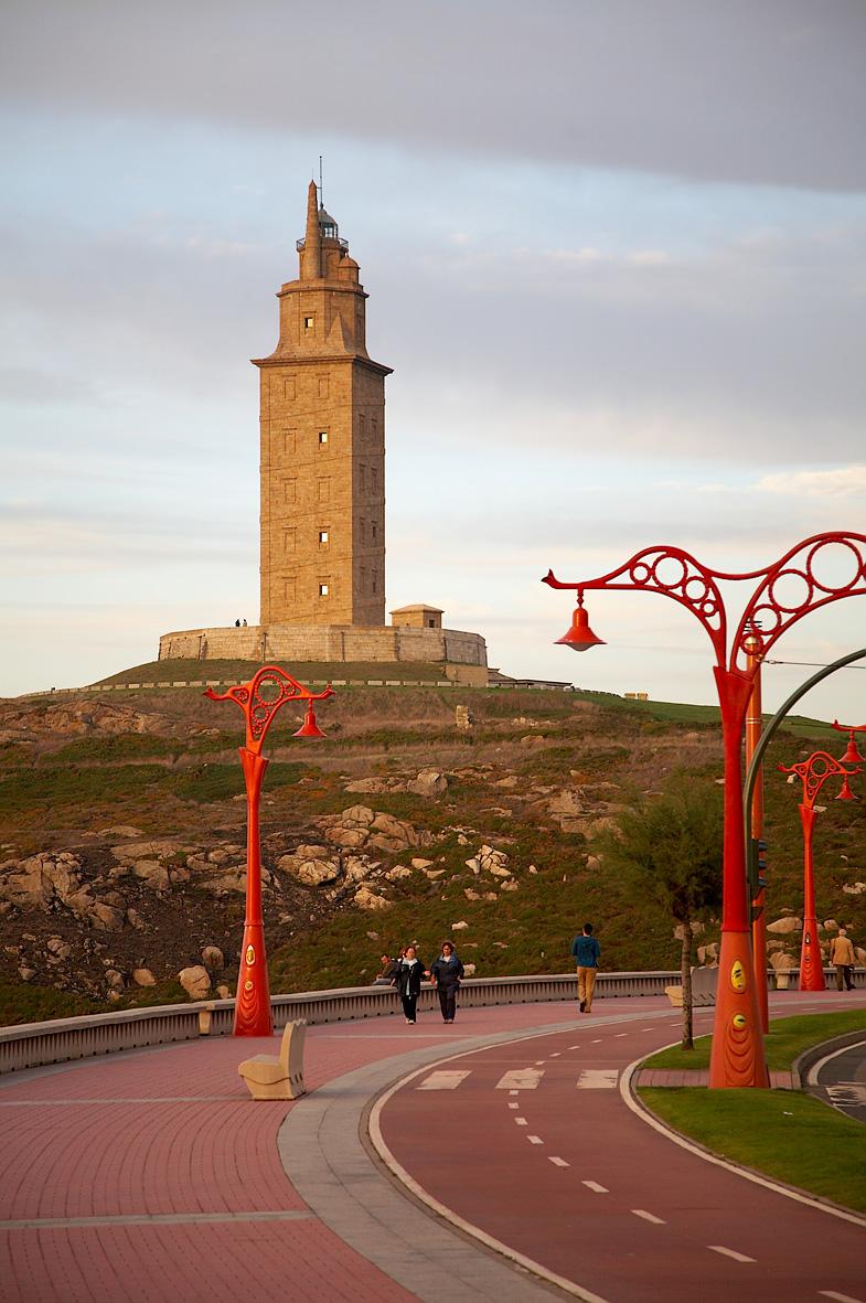 Foto playa Orzán. Torre de Hércules