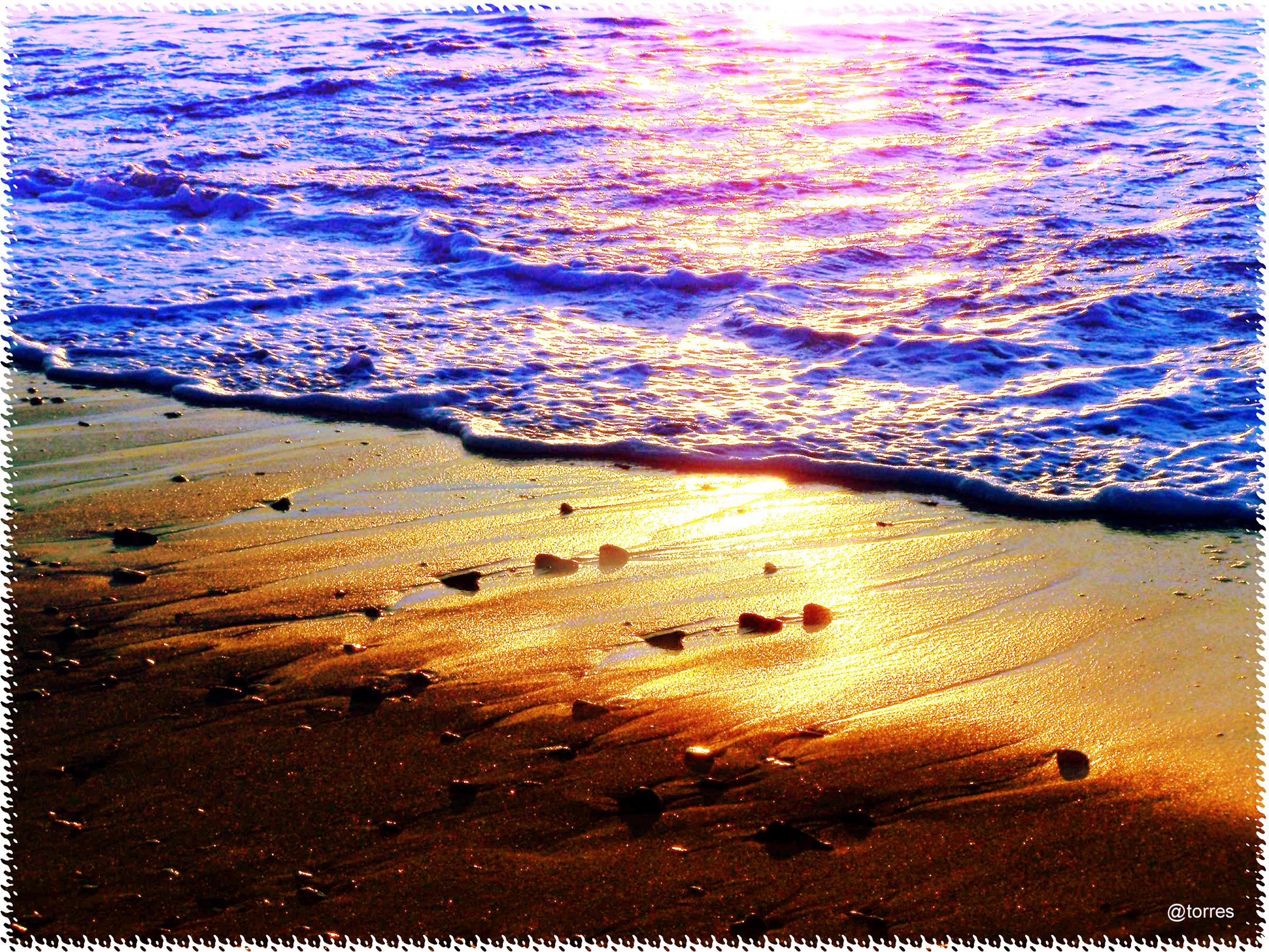 Foto playa San Amaro. Uno de mis trozos de playa favoritos.