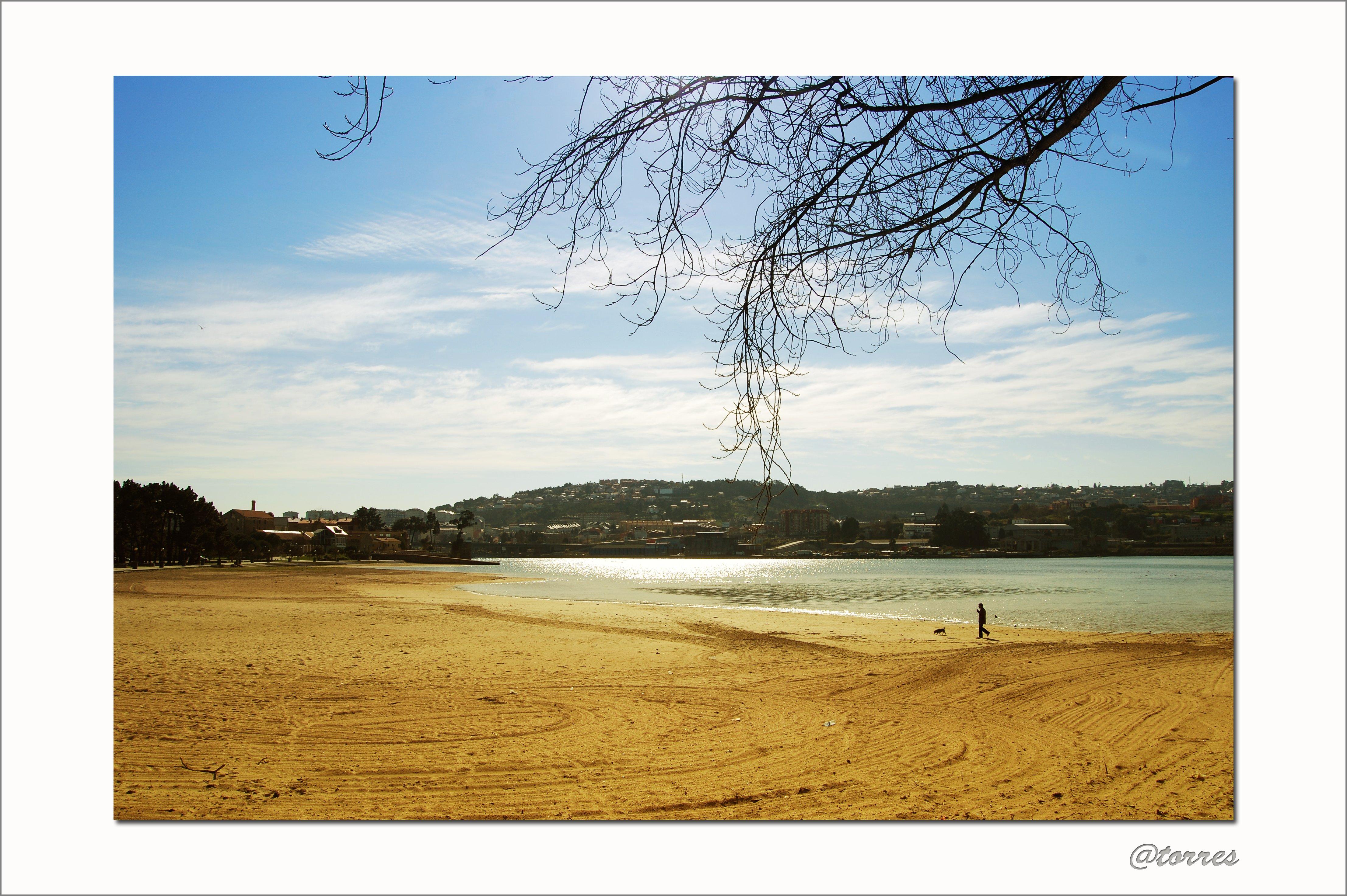 Foto playa Oza. Playa de Santa Cristina. OLEIROS (A Coruña).