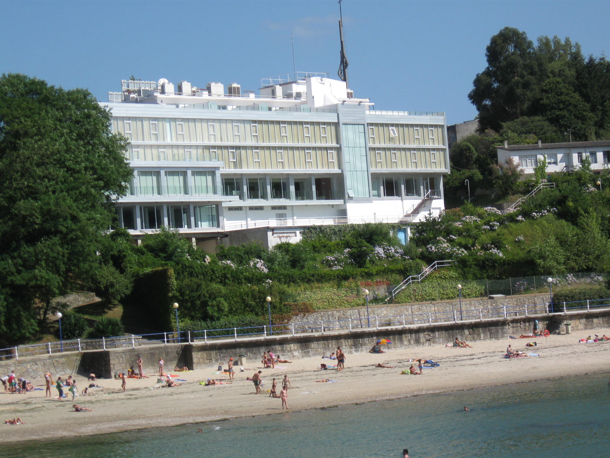 Foto playa Bastiagueiriño. Hotel Portocobo. Santa Cruz. 2008