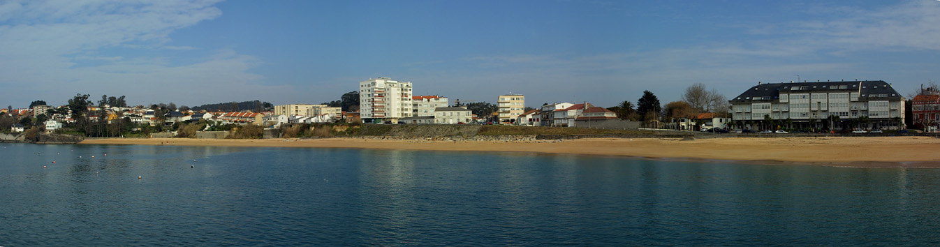 Foto playa Mera. Mera desde su muelle