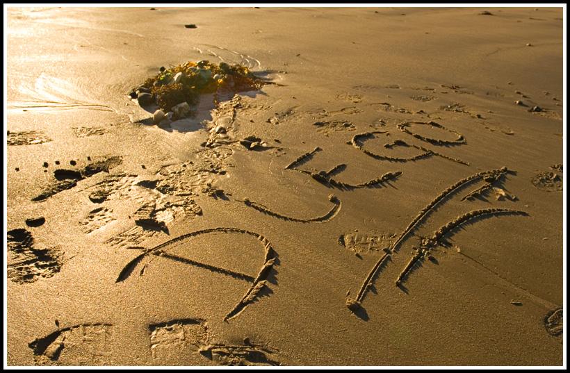Foto playa Cirro. Nombre en la Playa