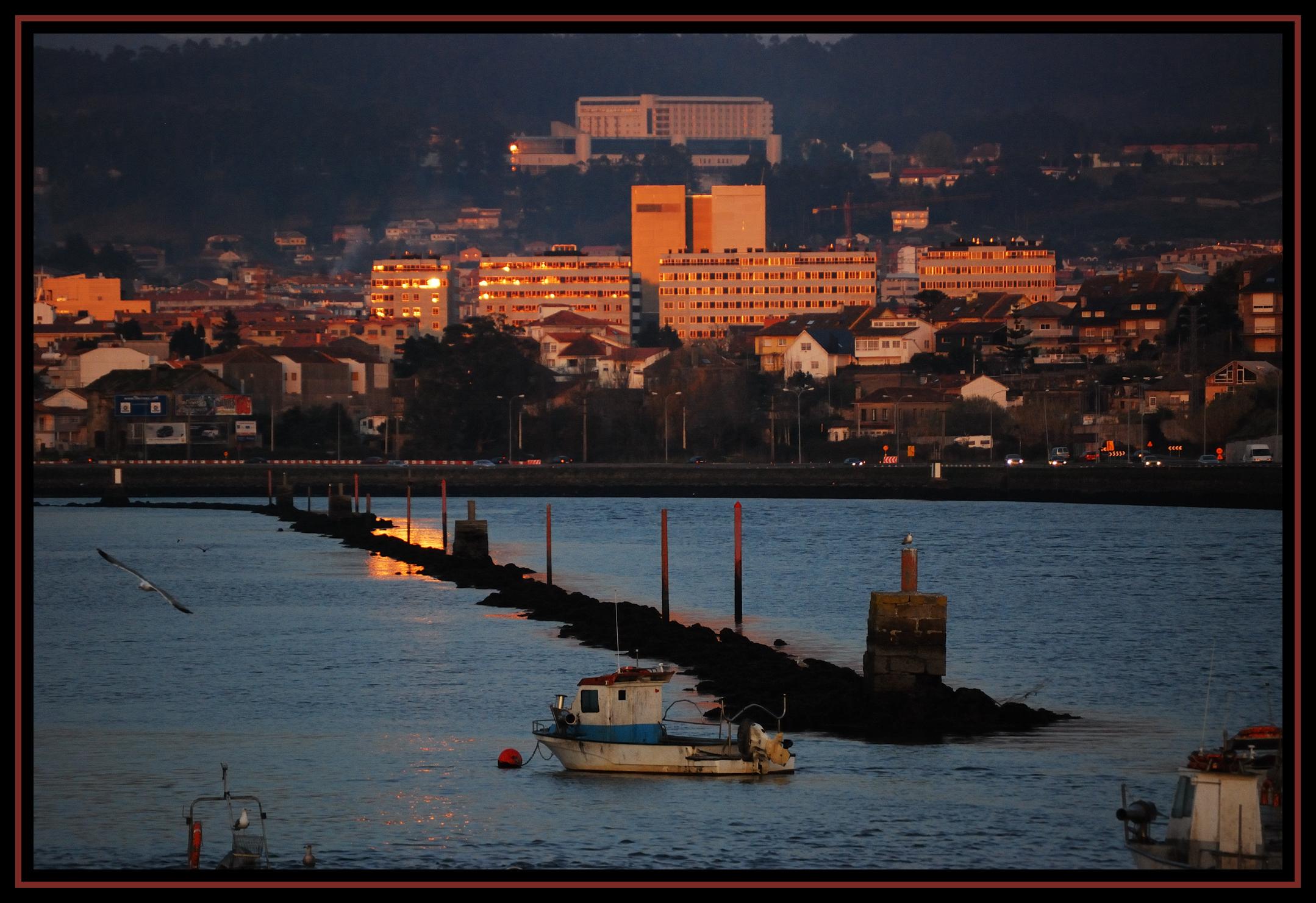 Foto playa Lourido. Pontevedra desde Lourido
