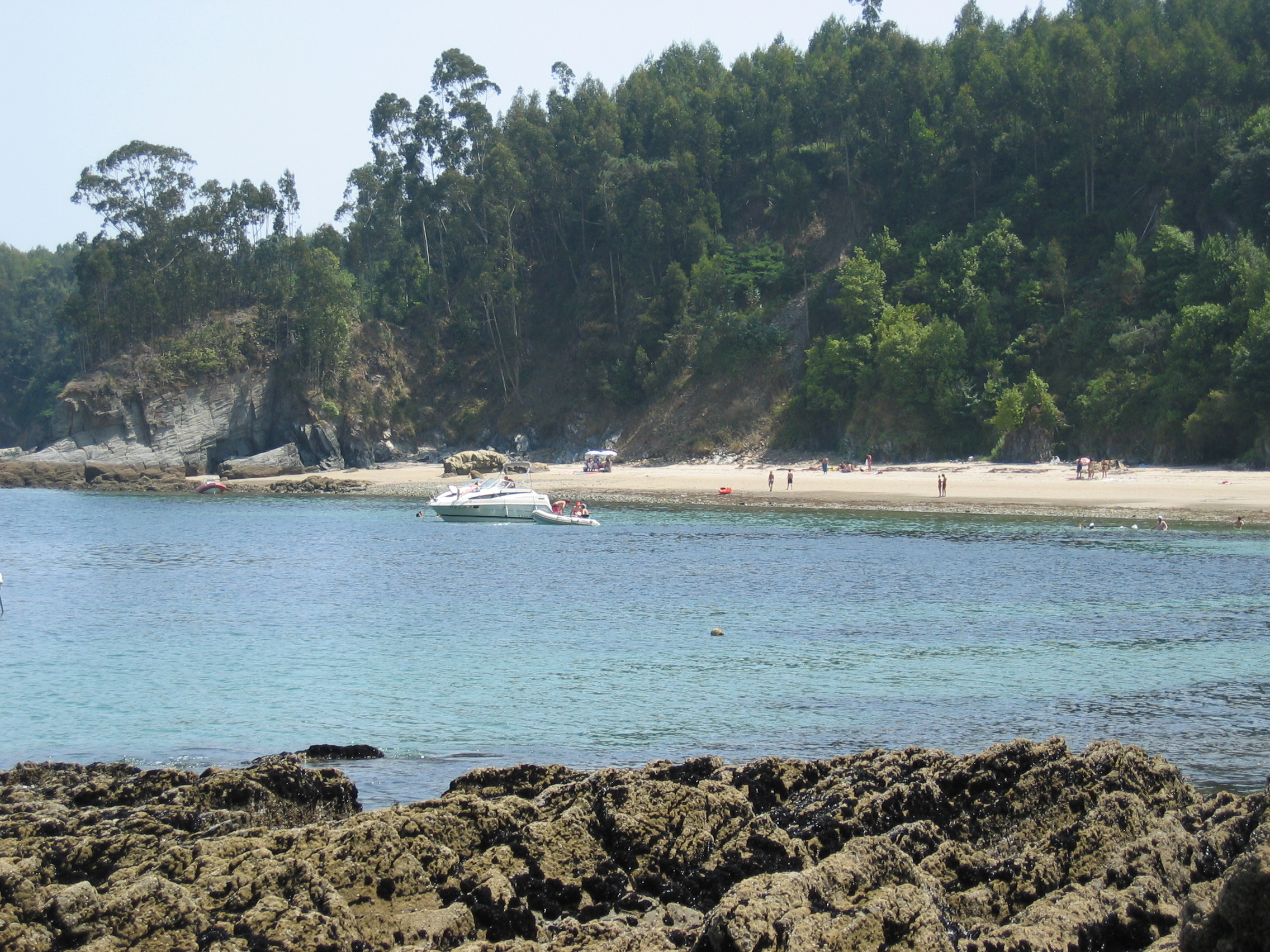 Foto playa Lobos. Arnela vista desde la playa de la ducha