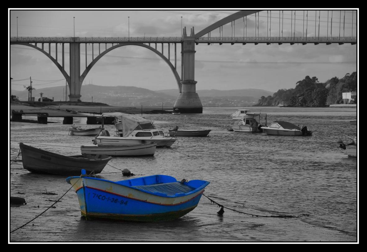 Foto playa Regueiro. barca