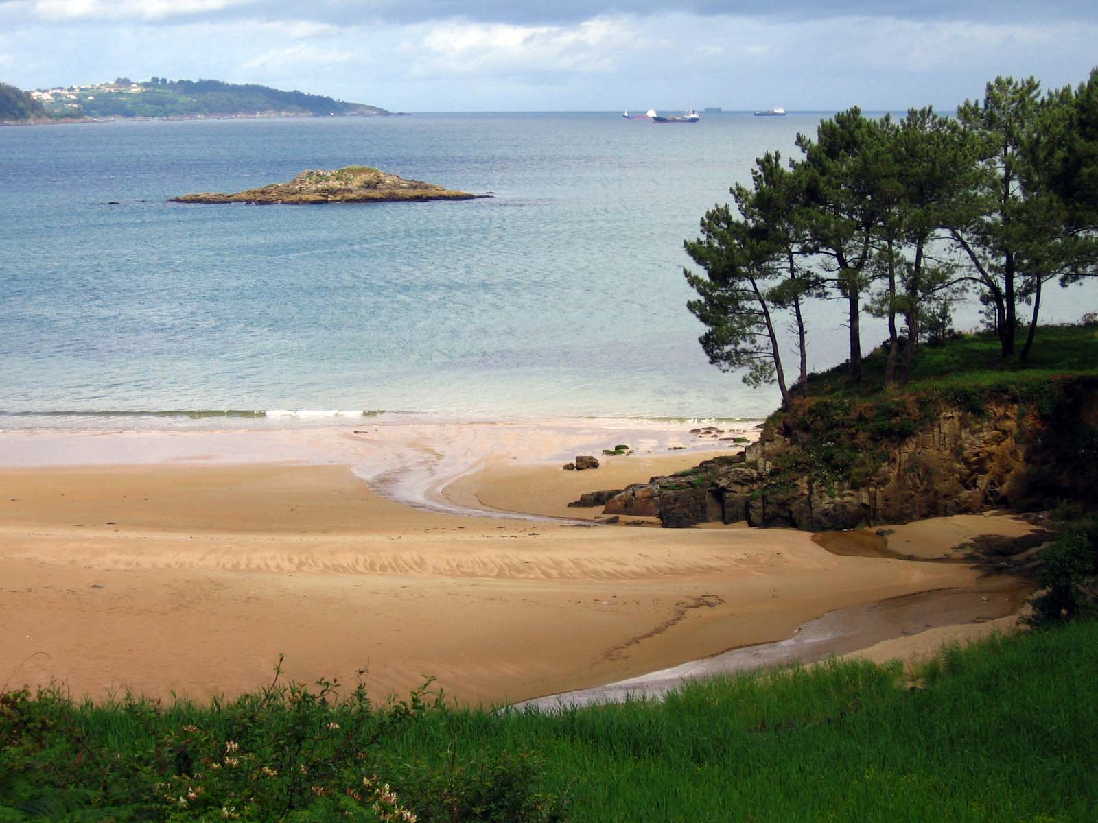 Foto playa Marín. Perbes, praia pequena