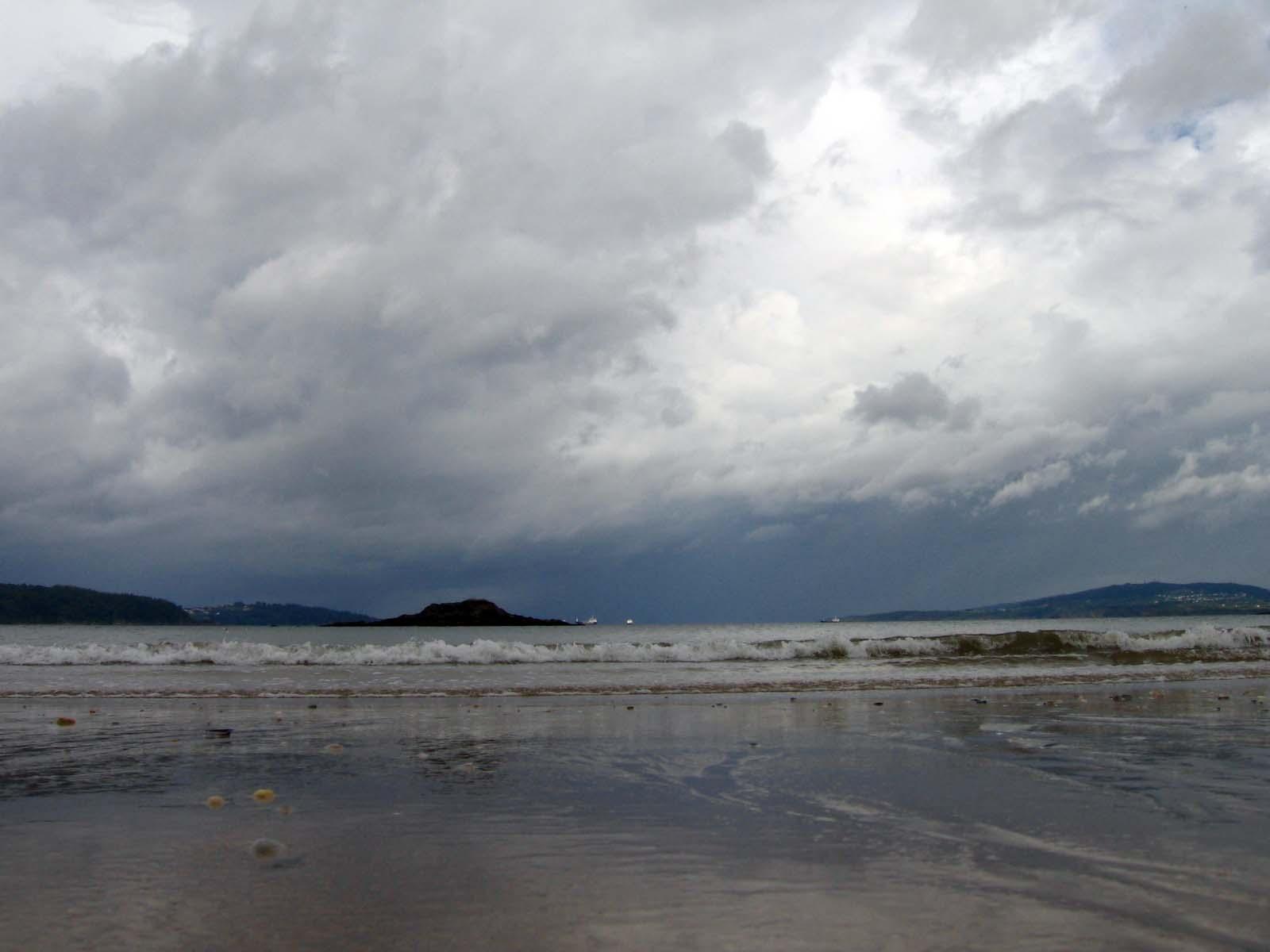 Foto playa Marín. Inverno em Perbes