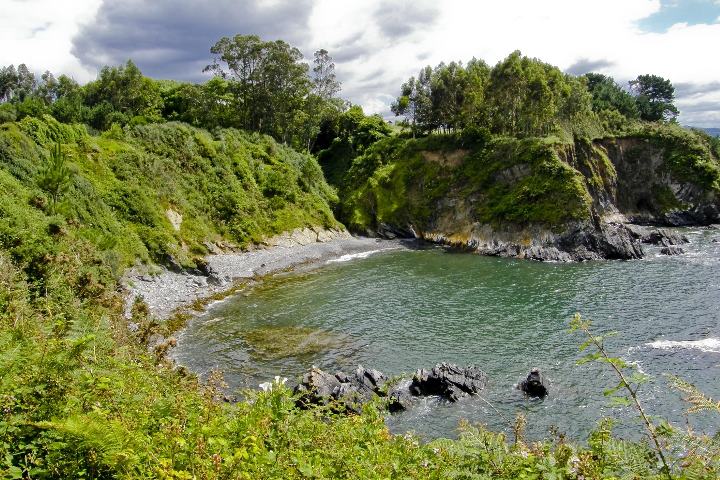 Foto playa Paredes. Costa de Boebre