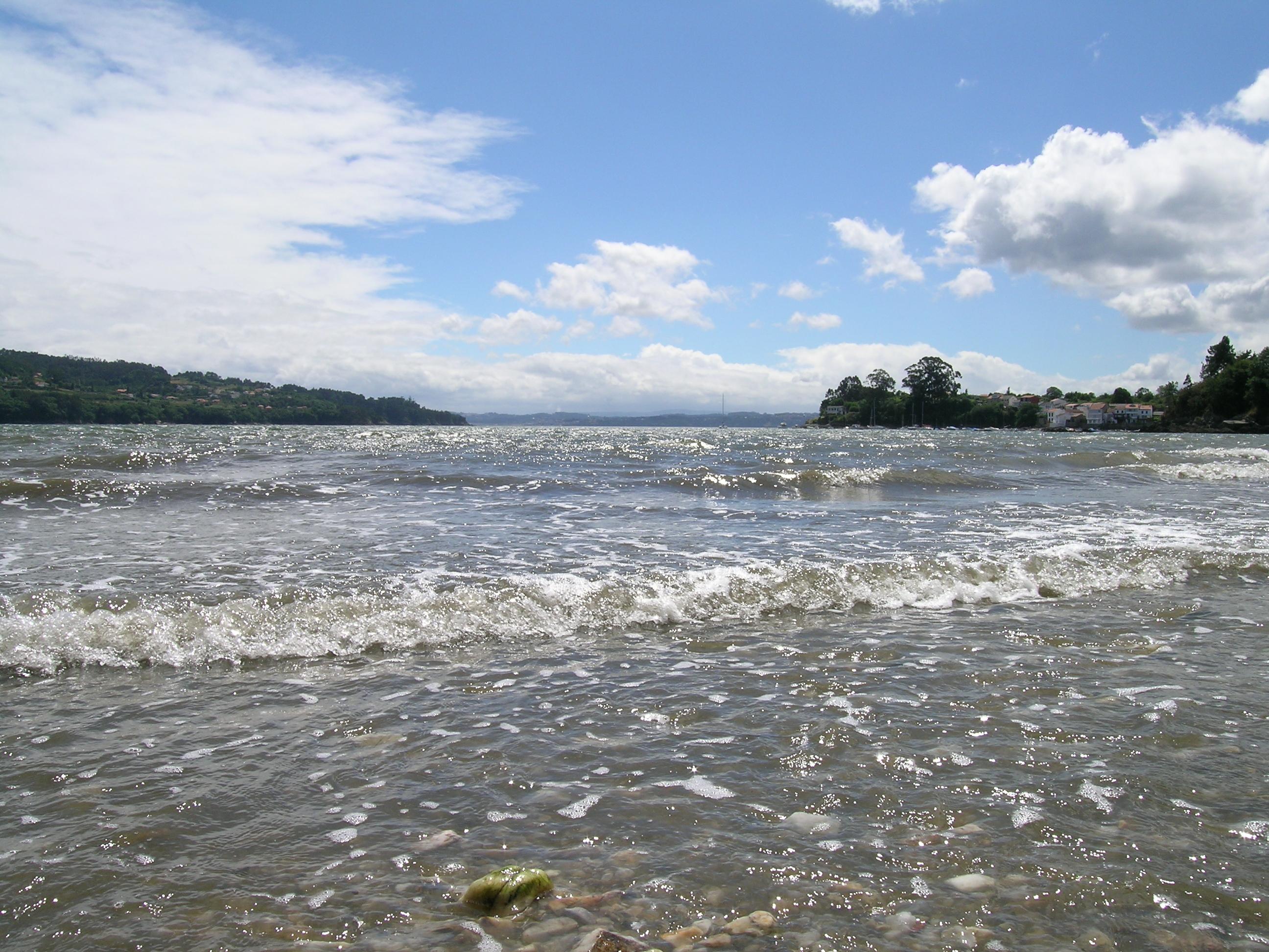Foto playa Almieiras. Playa de Río Sandeo (Limodre)