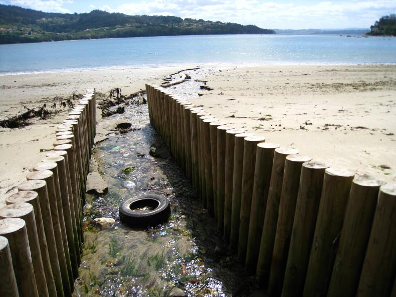 Foto playa Almieiras. Sendares: Ares-Redes-Ares