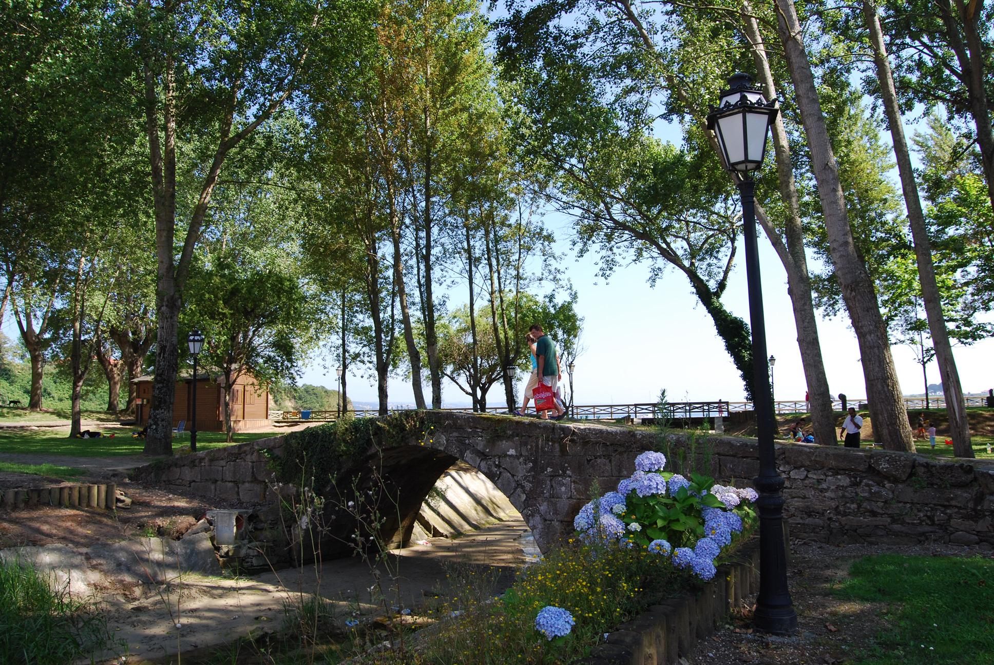 Foto playa Seselle. Desde la arboleda que circunda la playa de Ares.