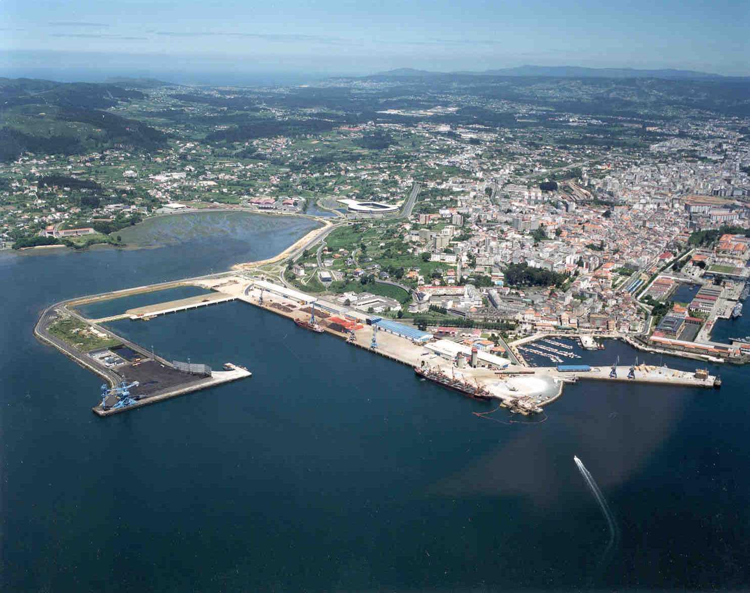 Foto playa A Graña. Ferrol, vista aerea.