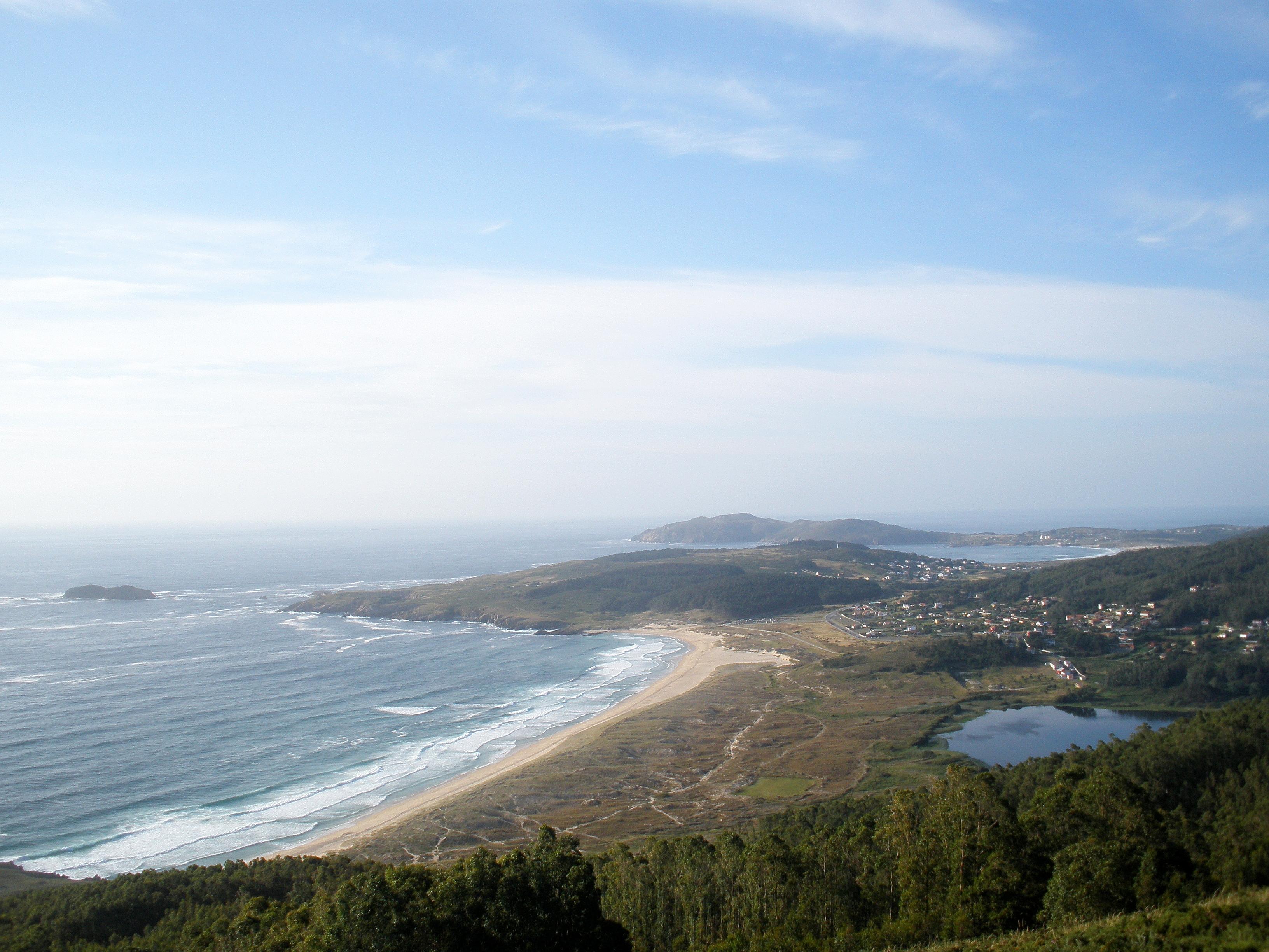 Foto playa Lumebo. DONIÃ'OS, DESDE MONTE VENTOSO, FERROL.  Dedicada a Domingo Verdu