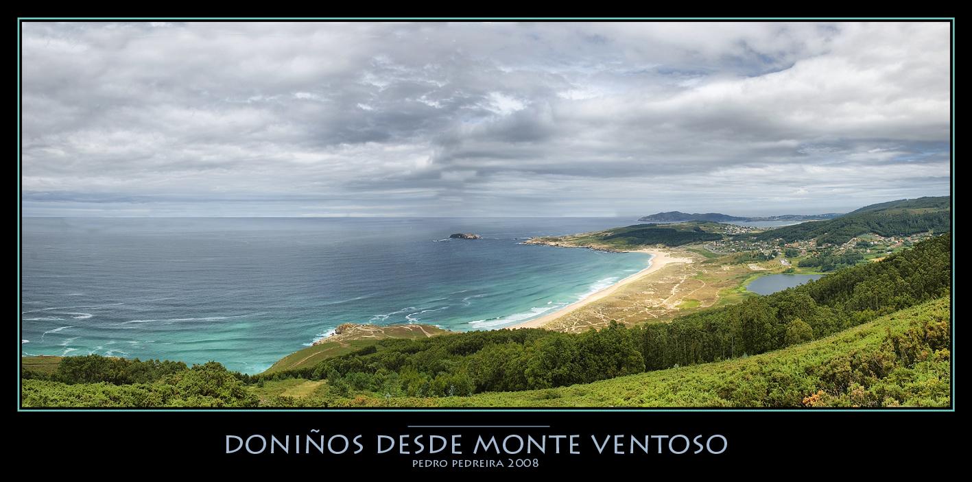 Foto playa Lumebo. Panoramica de Doniños desde Monte Ventoso