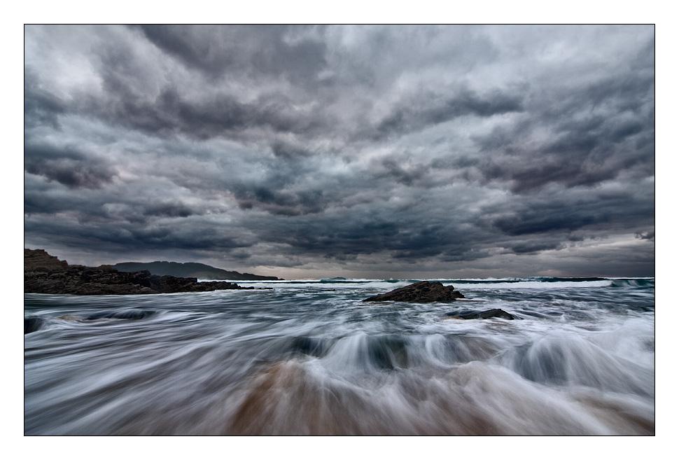 Foto playa Fragata. Tormenta