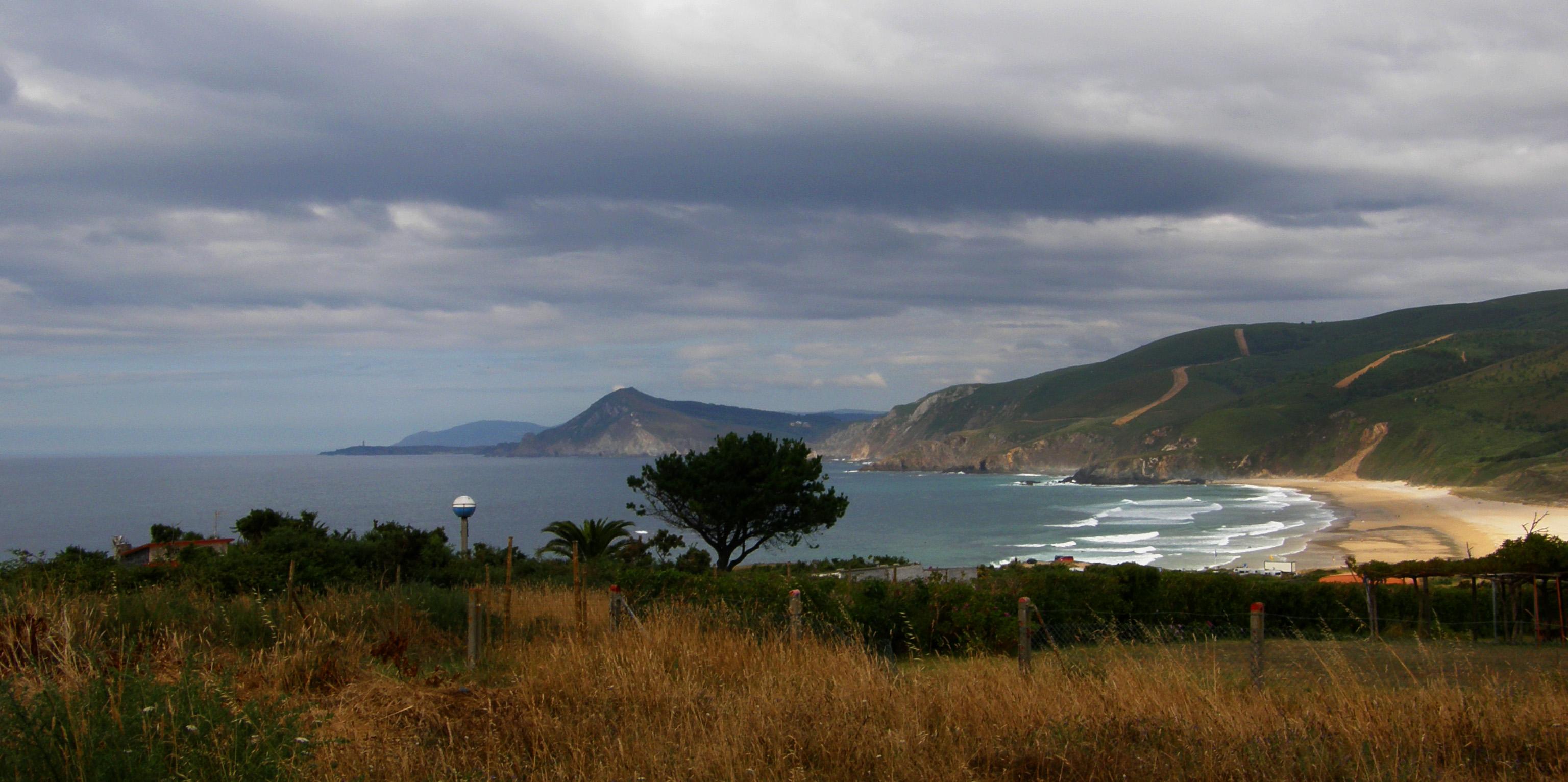 Foto playa Santa Comba. covas