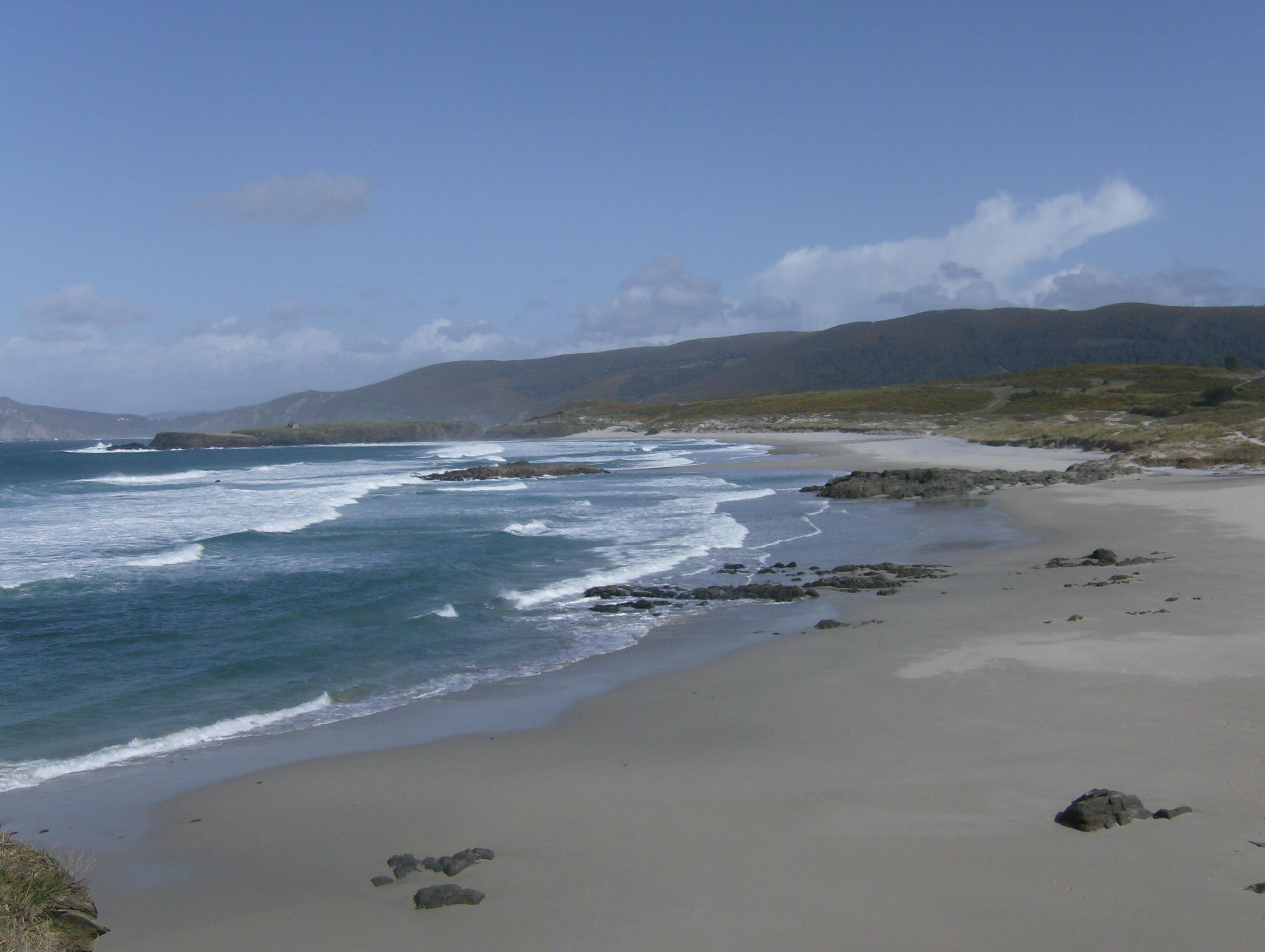 Foto playa Santa Comba. Praia Sta Comba