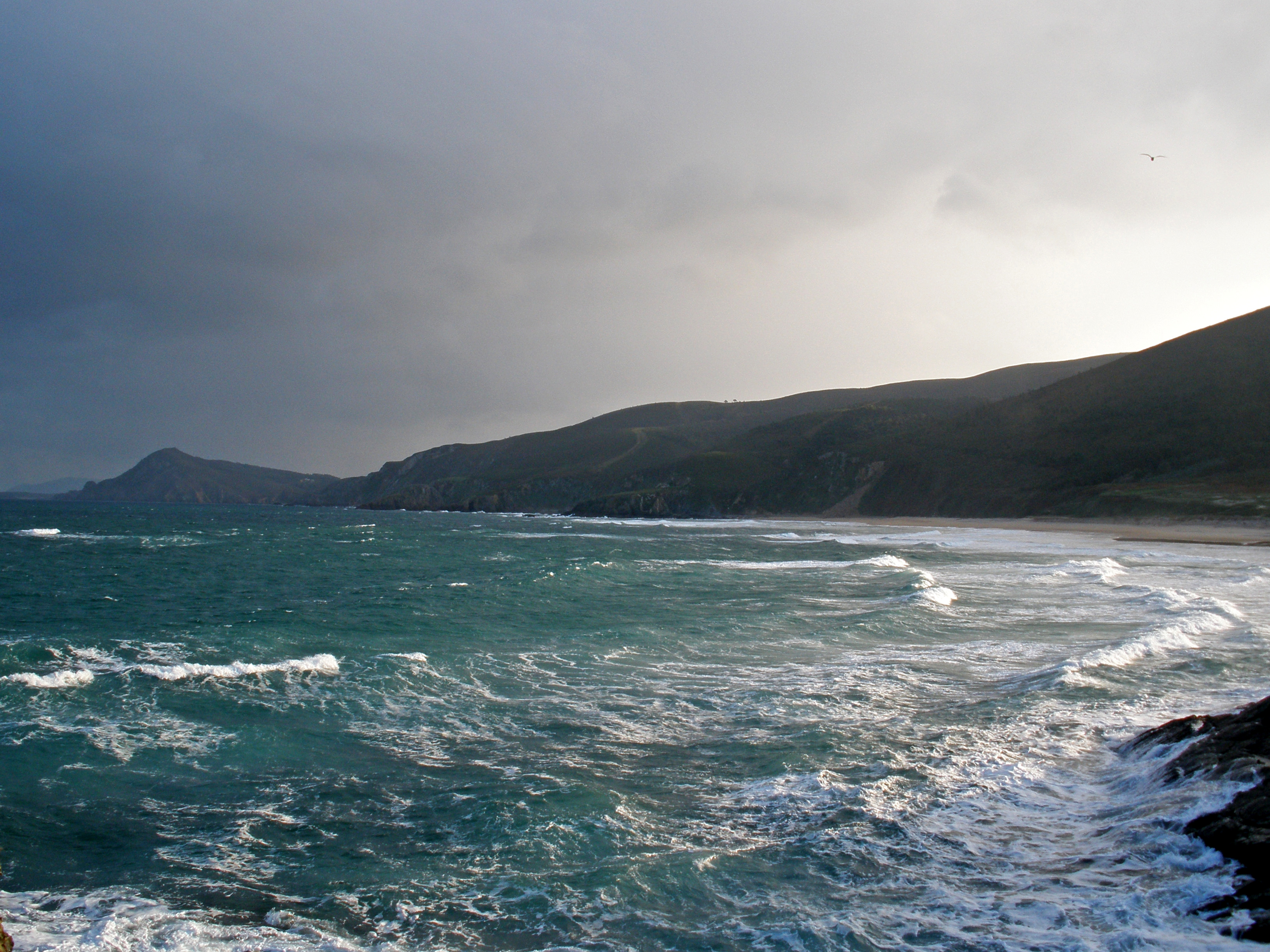 Foto playa As Fontes. Ponzos cobalto